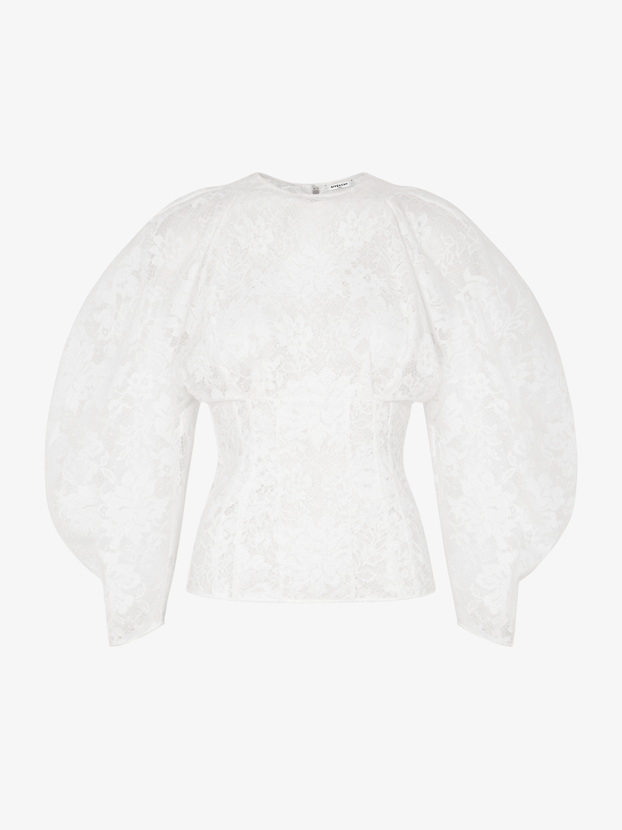 Lace top with oversized sleeves