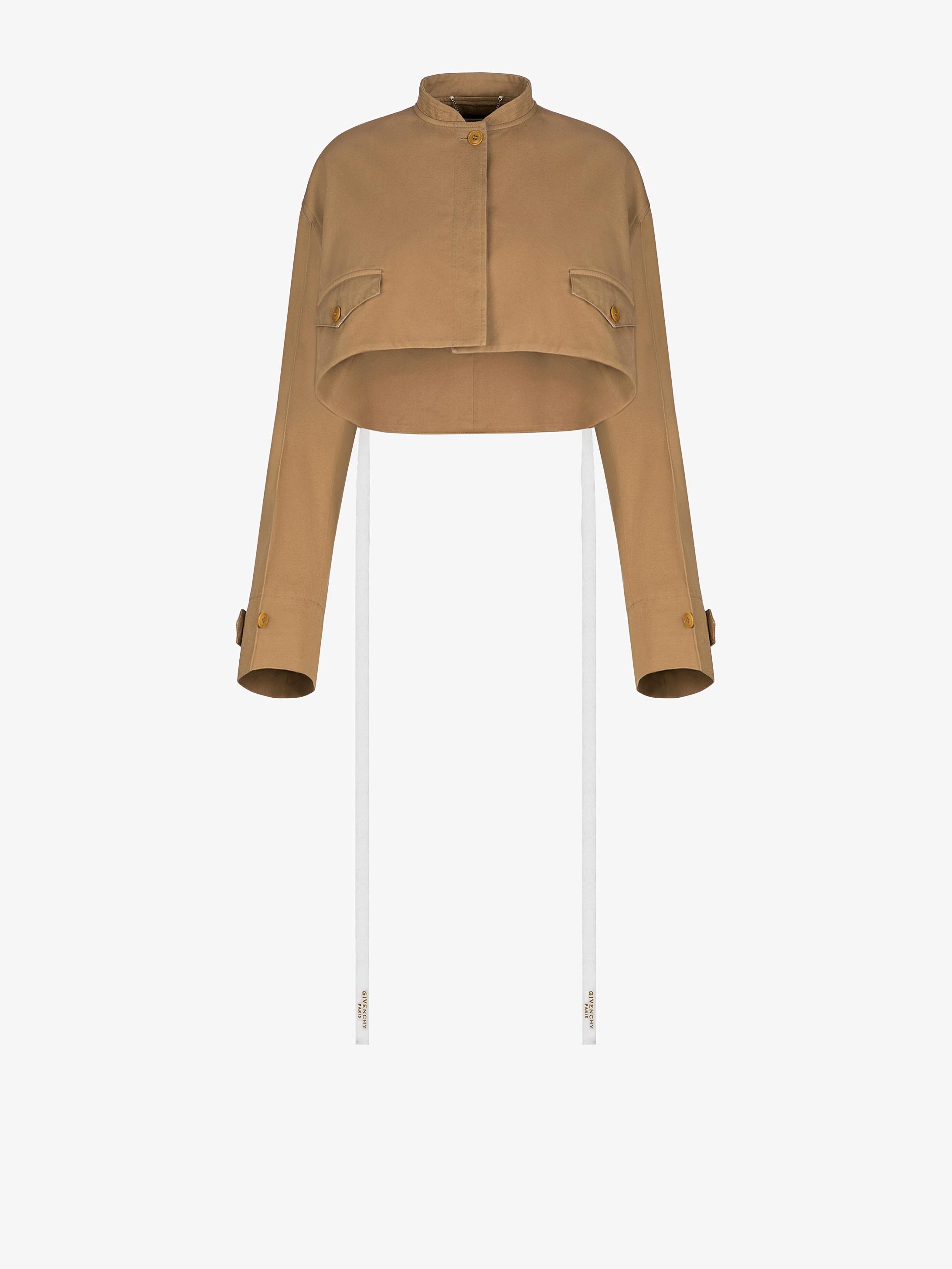GIVENCHY PARIS short sleeves jacket with ribbons