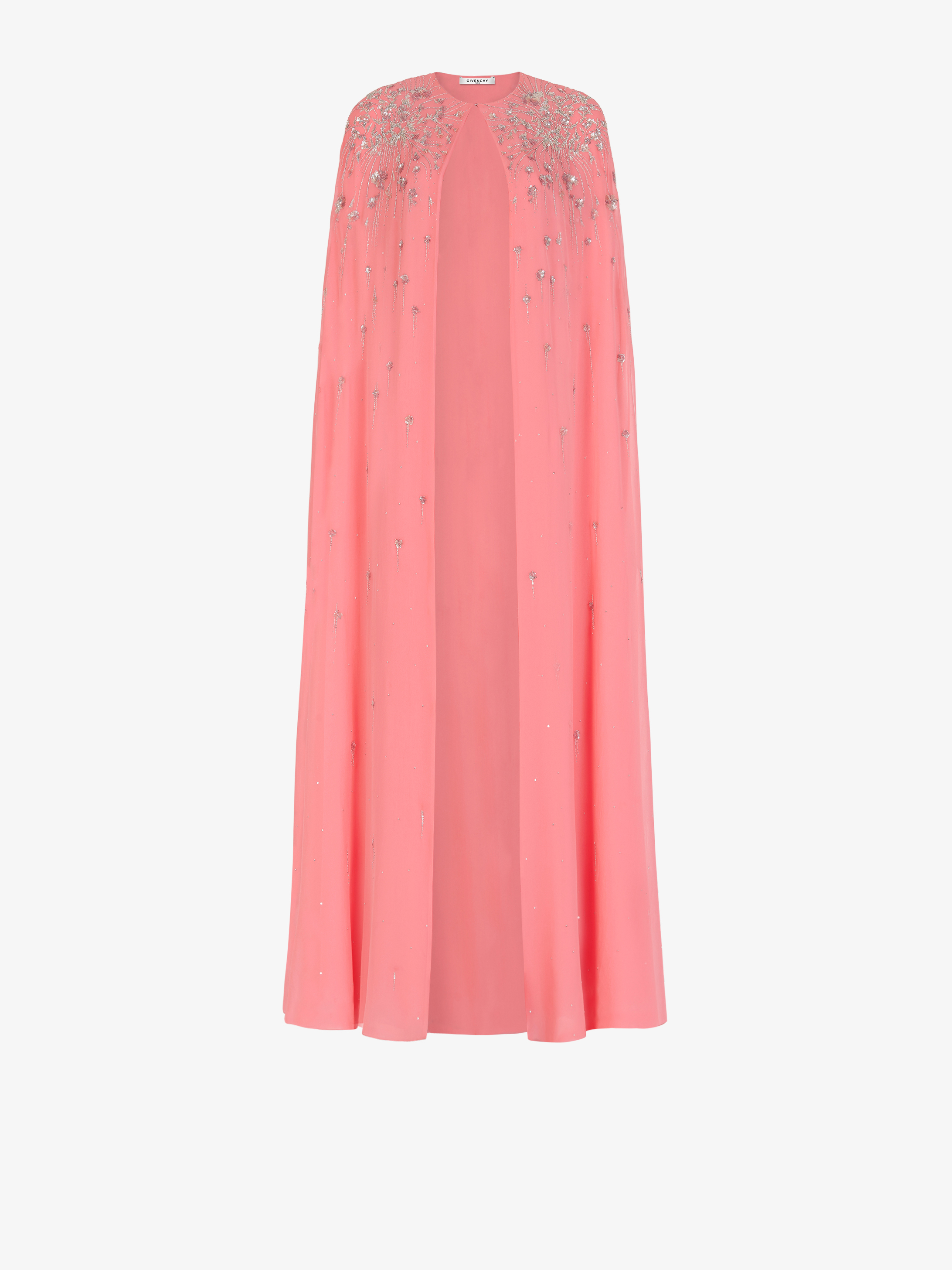 Sequins embroidered evening cape
