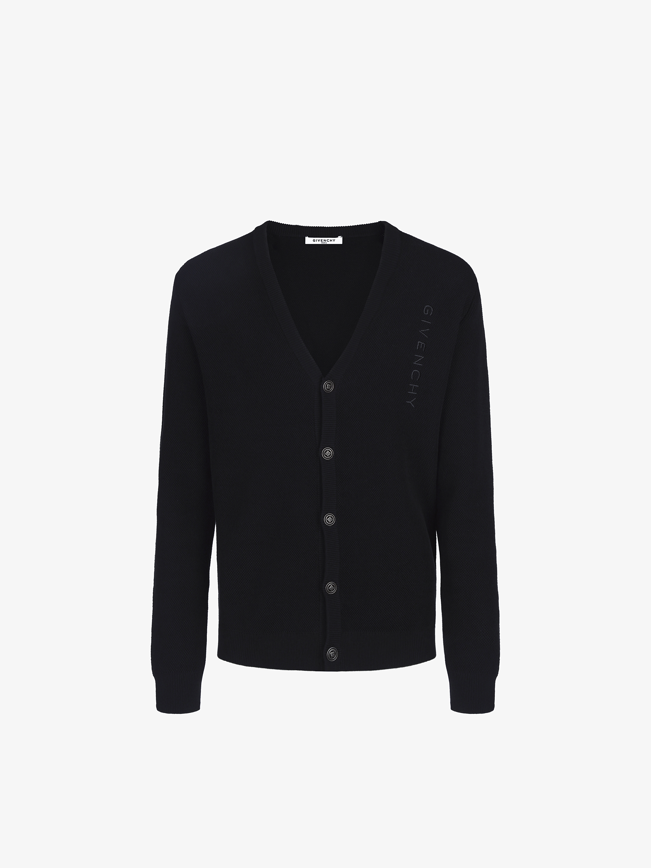 Vertical GIVENCHY cardigan with 4G buttons