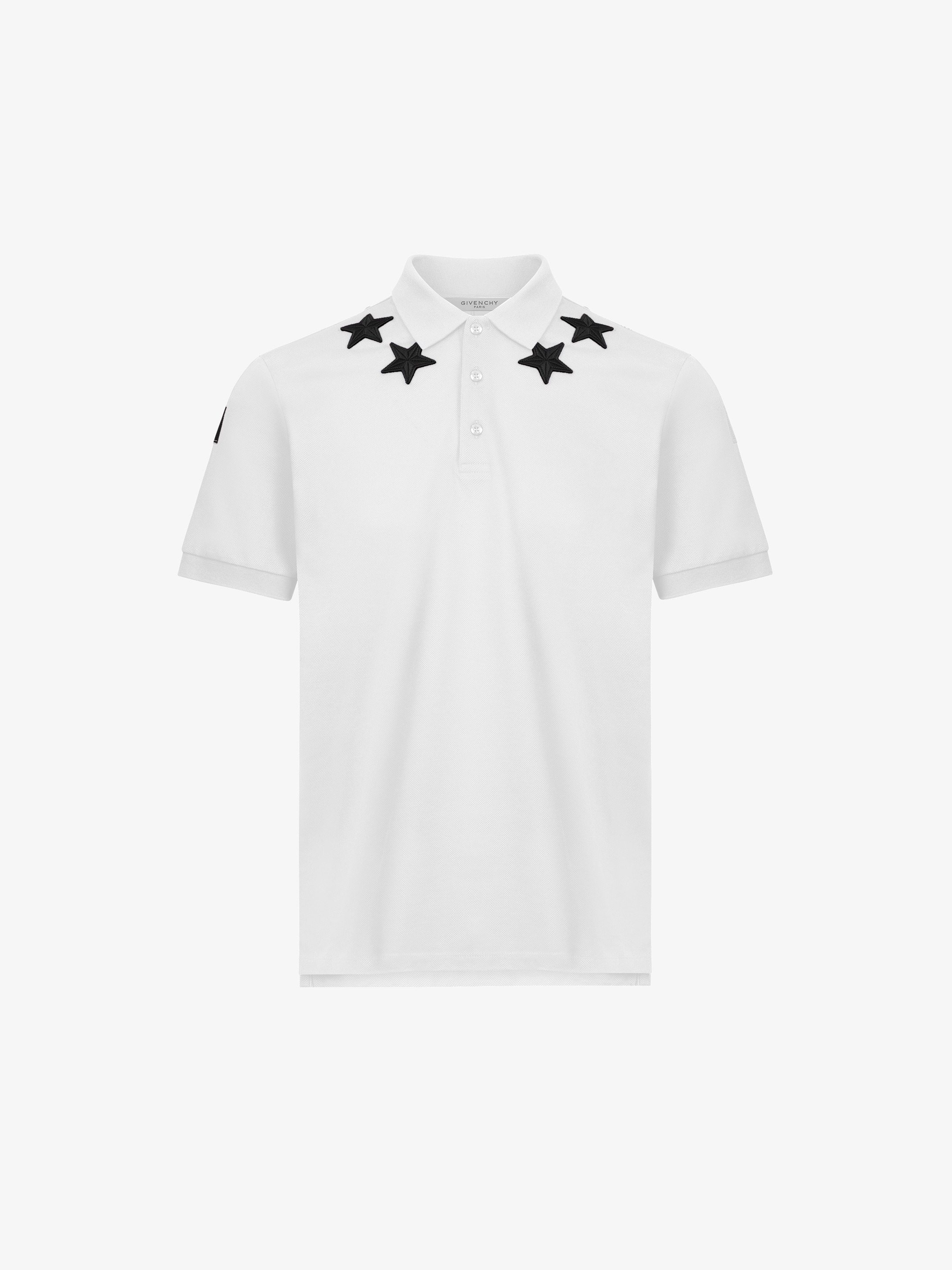 Stars and 74 details polo shirt in cotton
