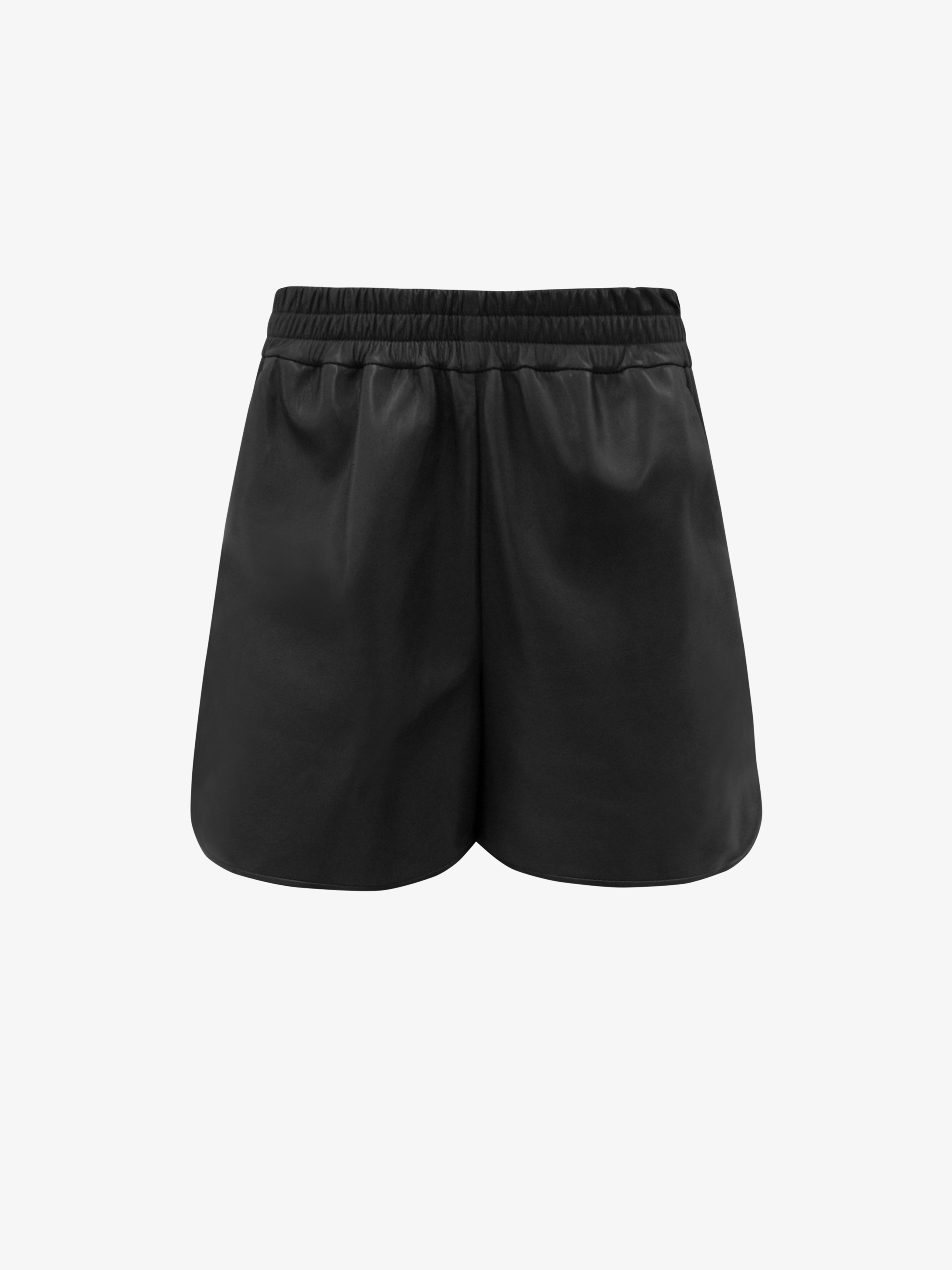 Short in smooth leather