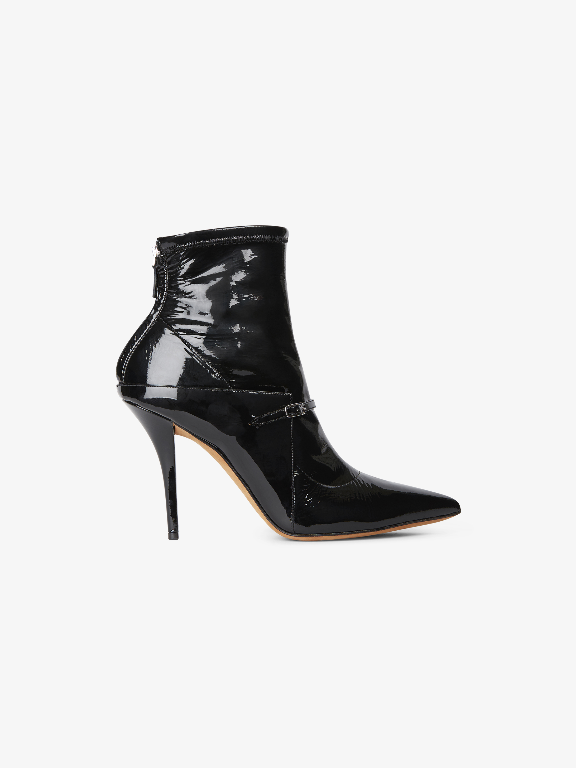 Bottines New Feminine en cuir vernis