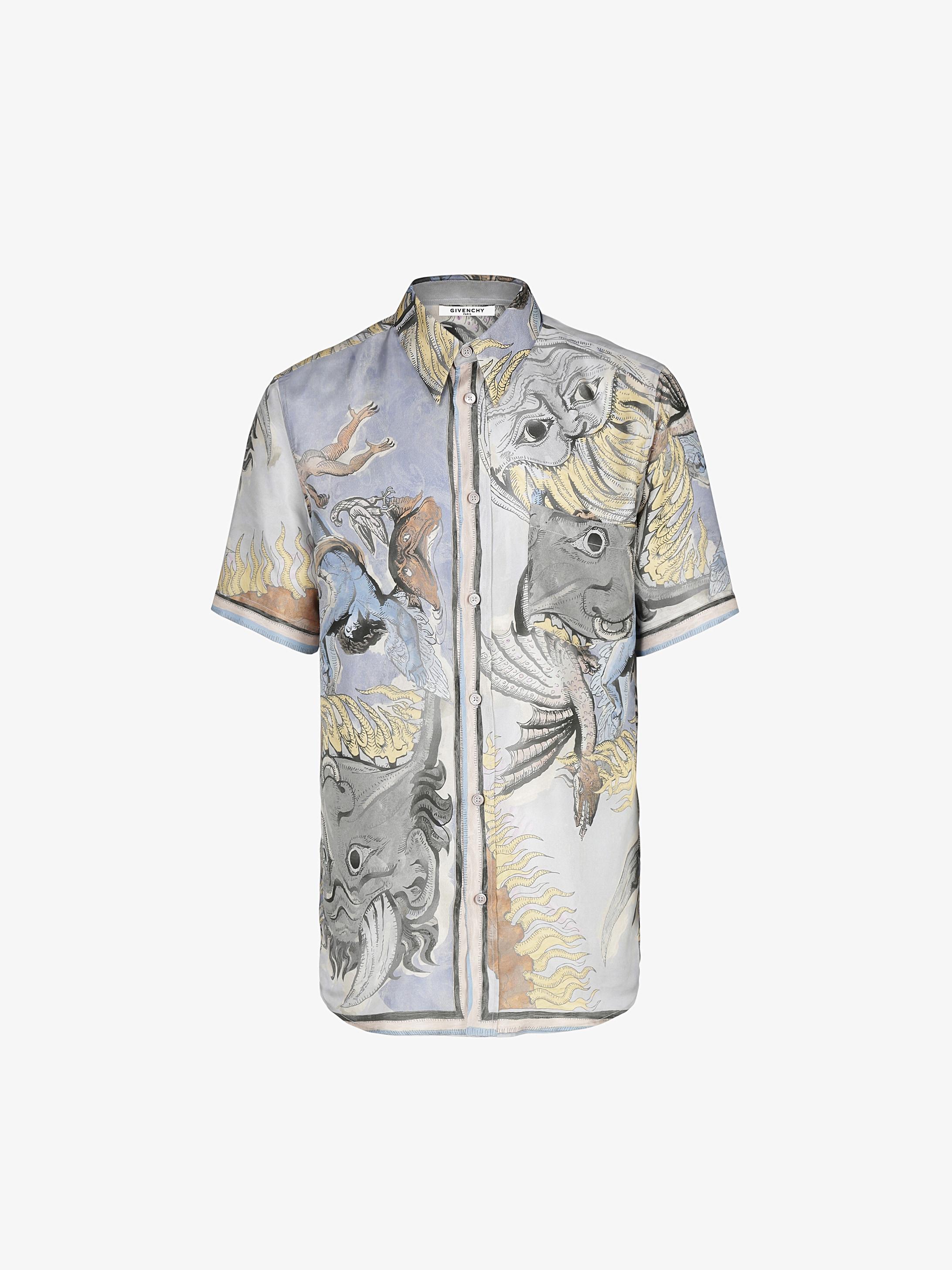Icarus printed shirt in silk