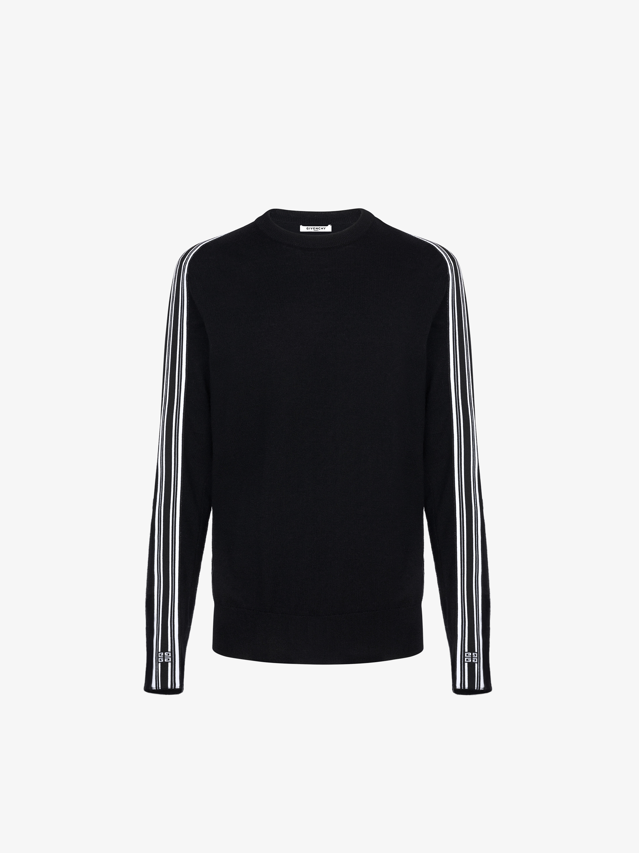 4G contrasting stripes sweater in wool