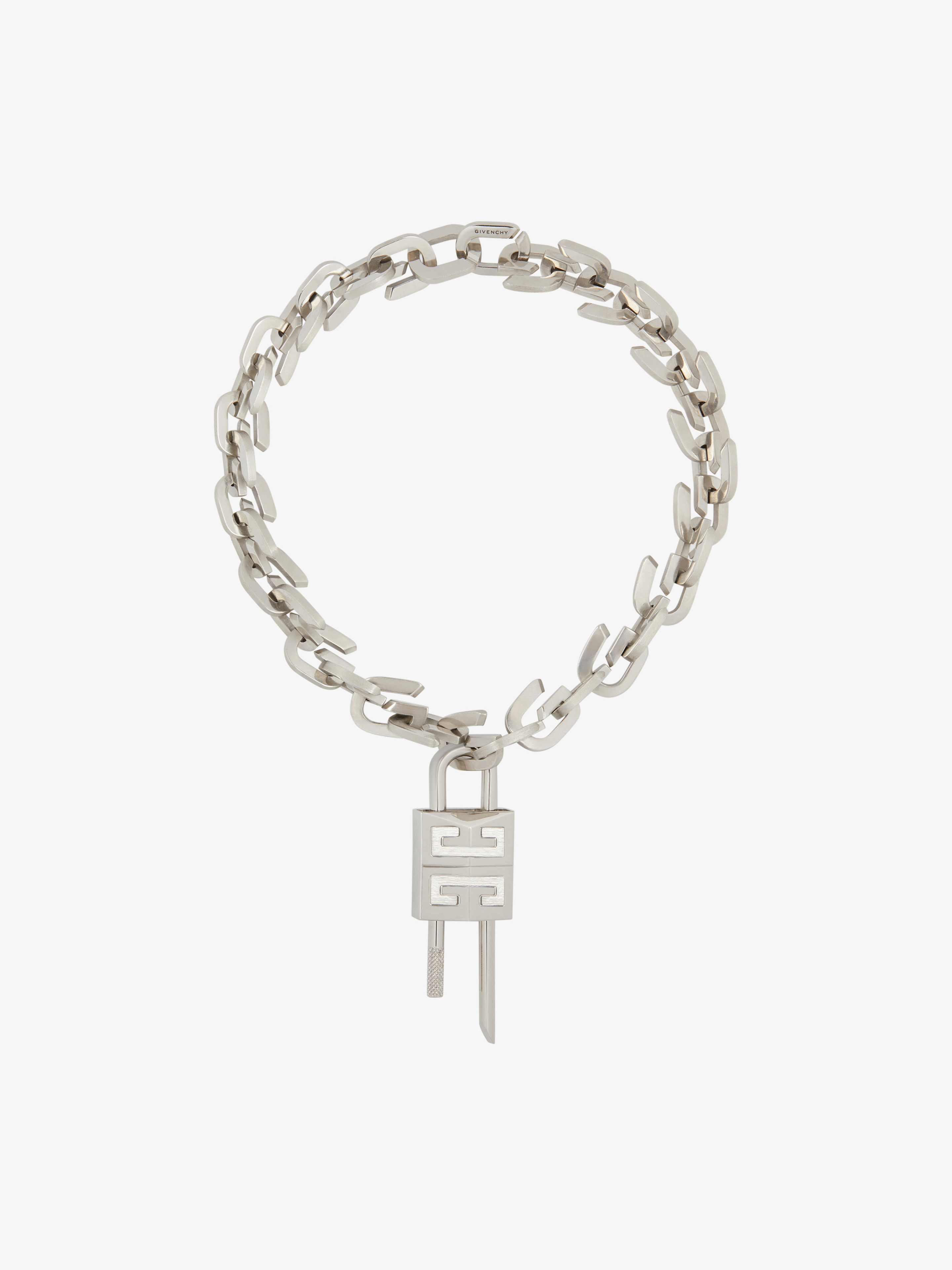 G Link necklace with padlock