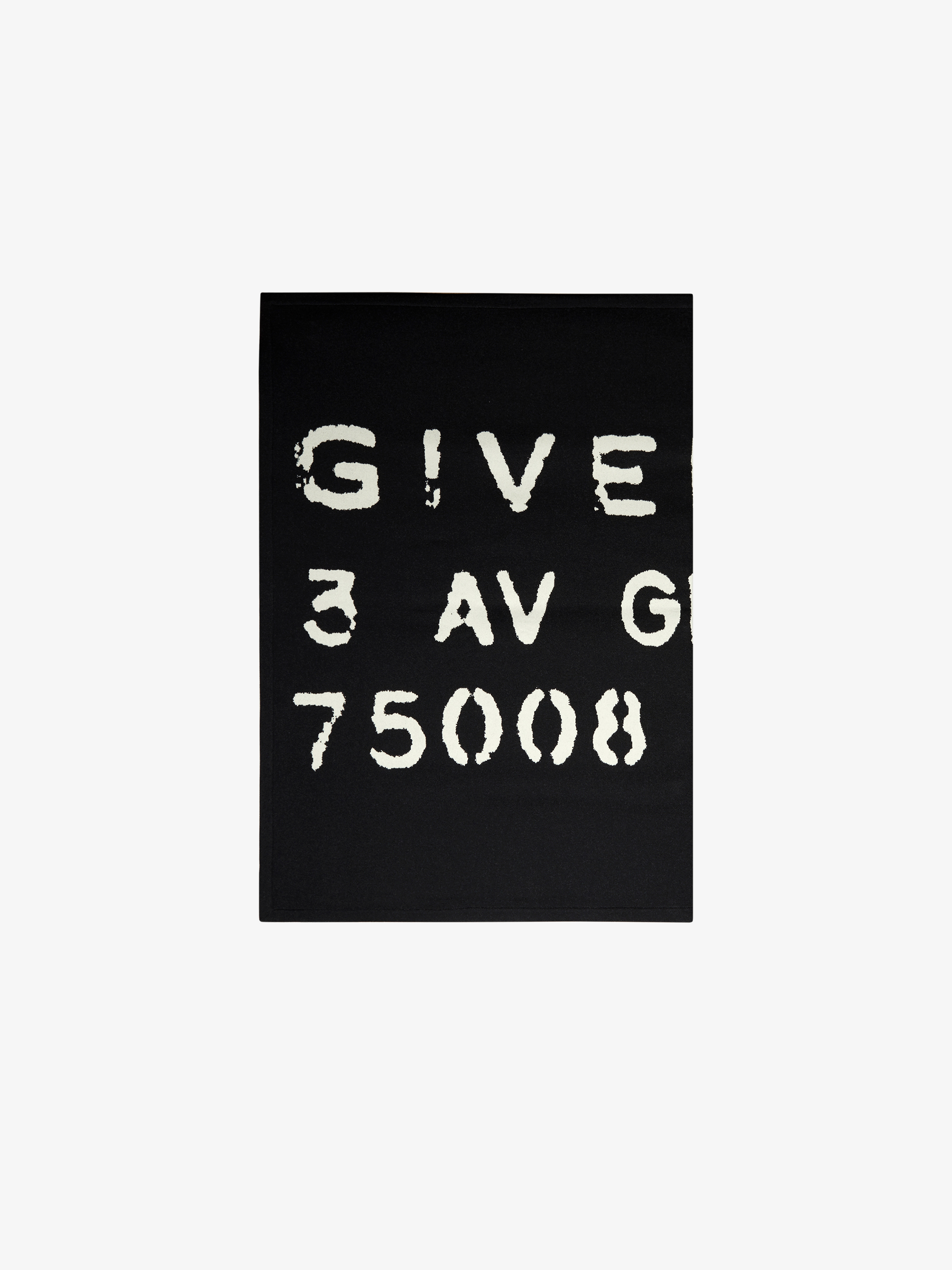 GIVENCHY Atelier blanket in wool and silk