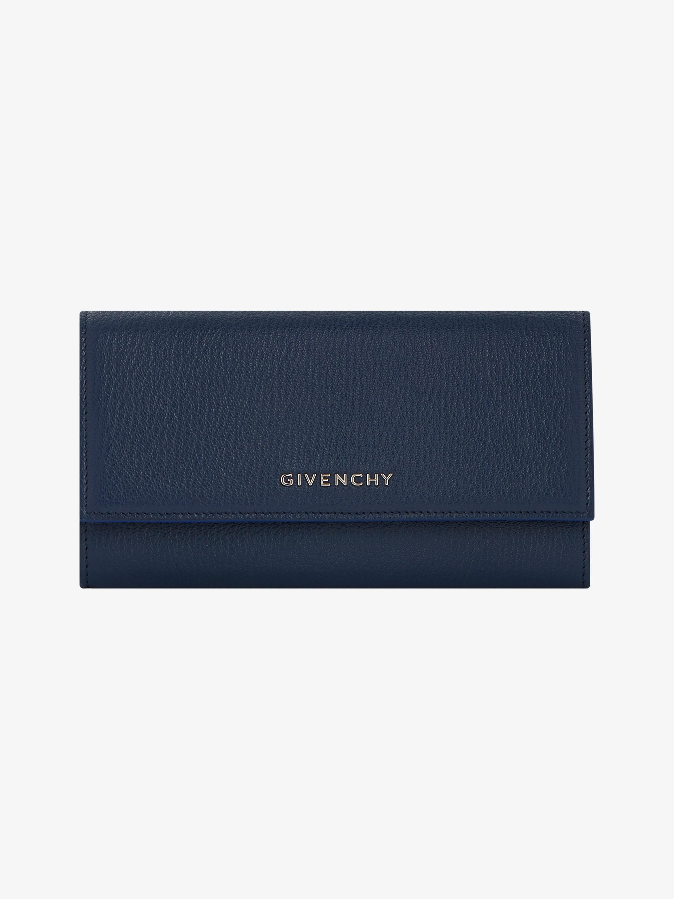 Pandora long flap wallet in leather
