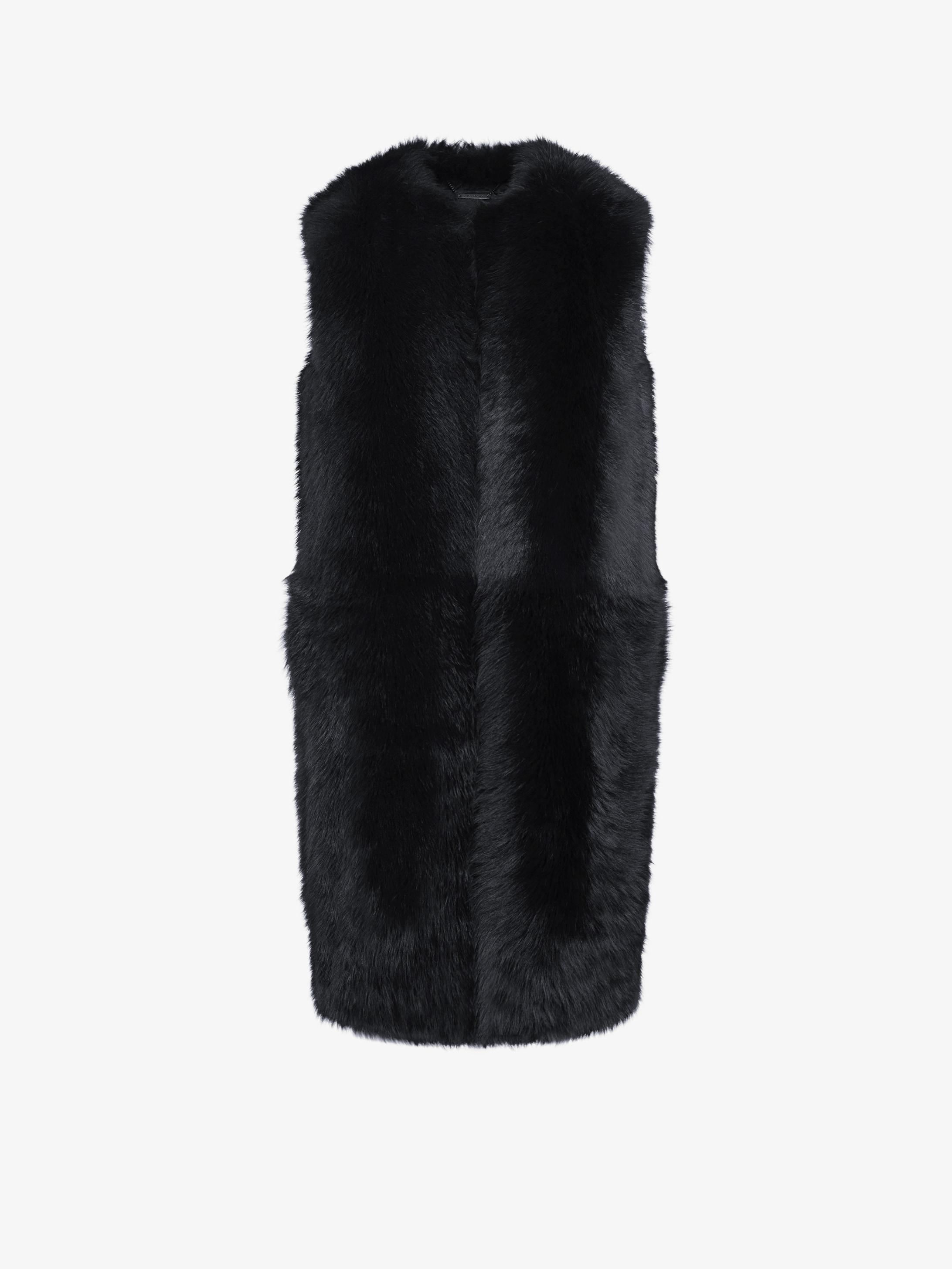 GIVENCHY sleeveless fur jacket