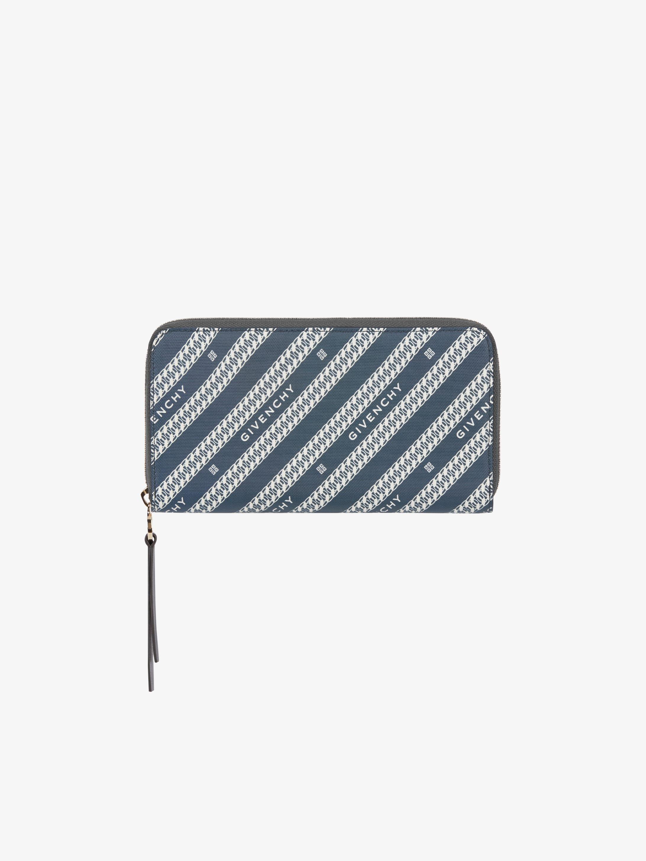 Long portefeuille zippé en toile enduite GIVENCHY Chaîne