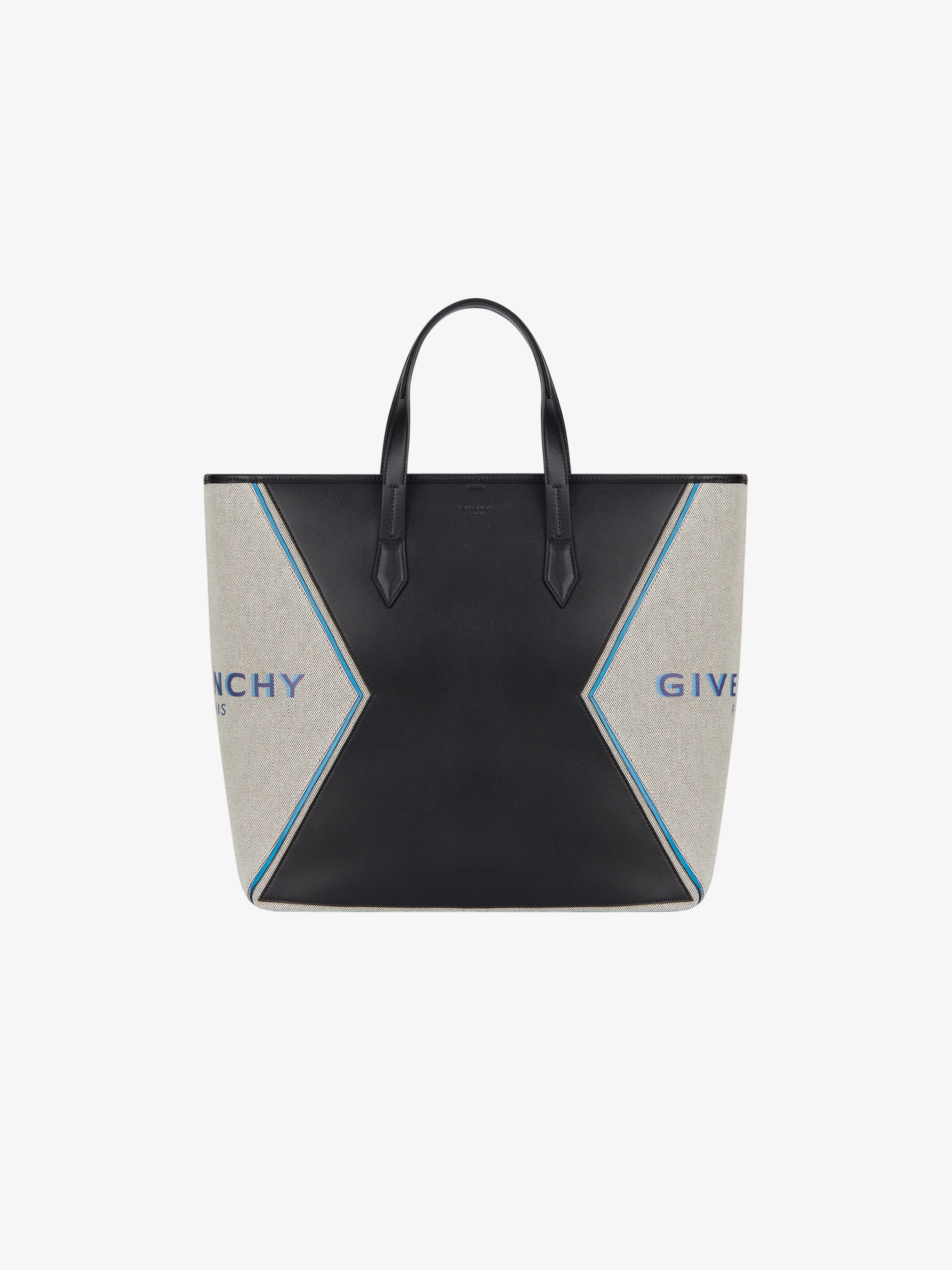 GIVENCHY PARIS Bond shopping bag in leather and canvas