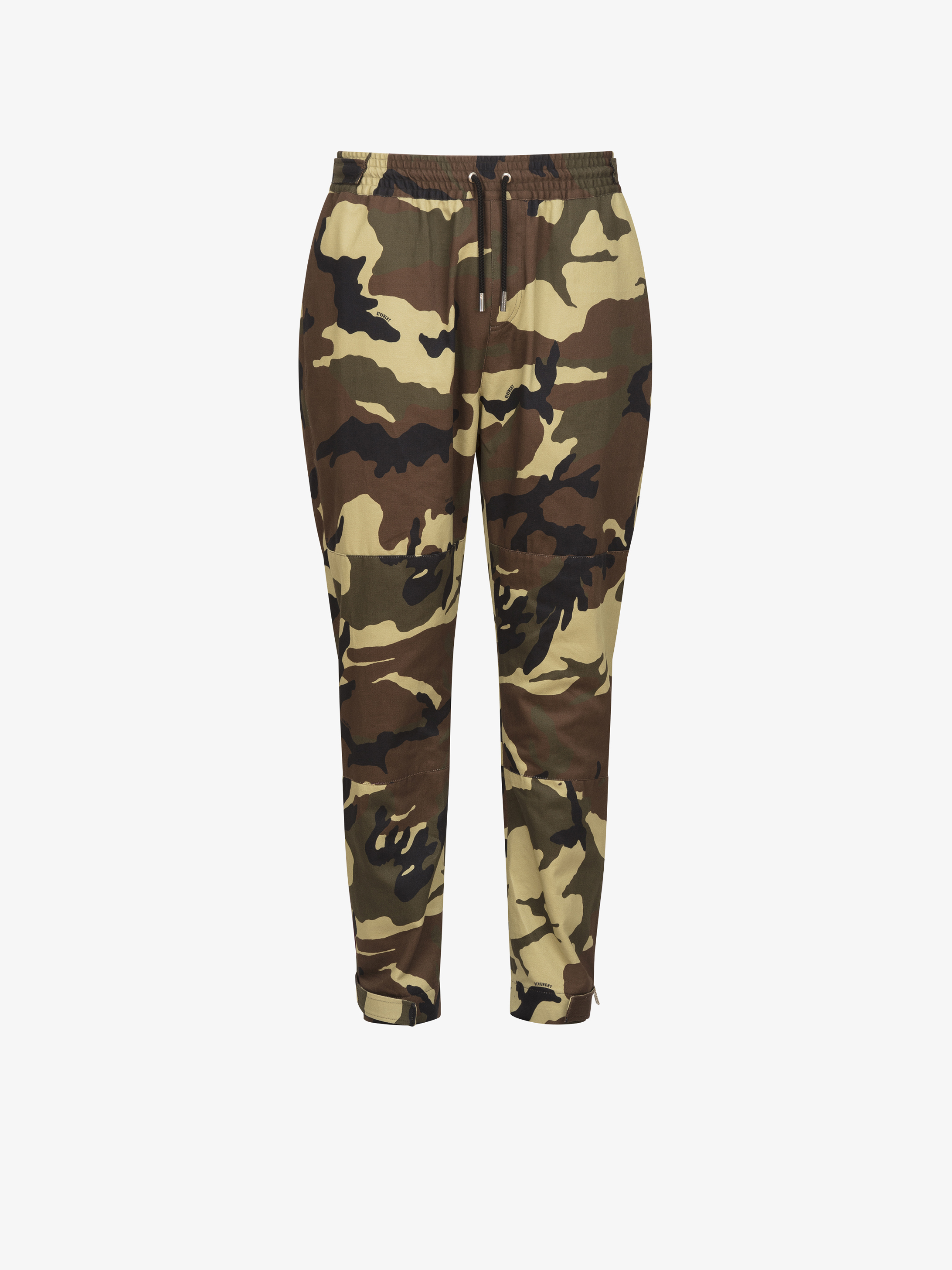 Camo printed trousers