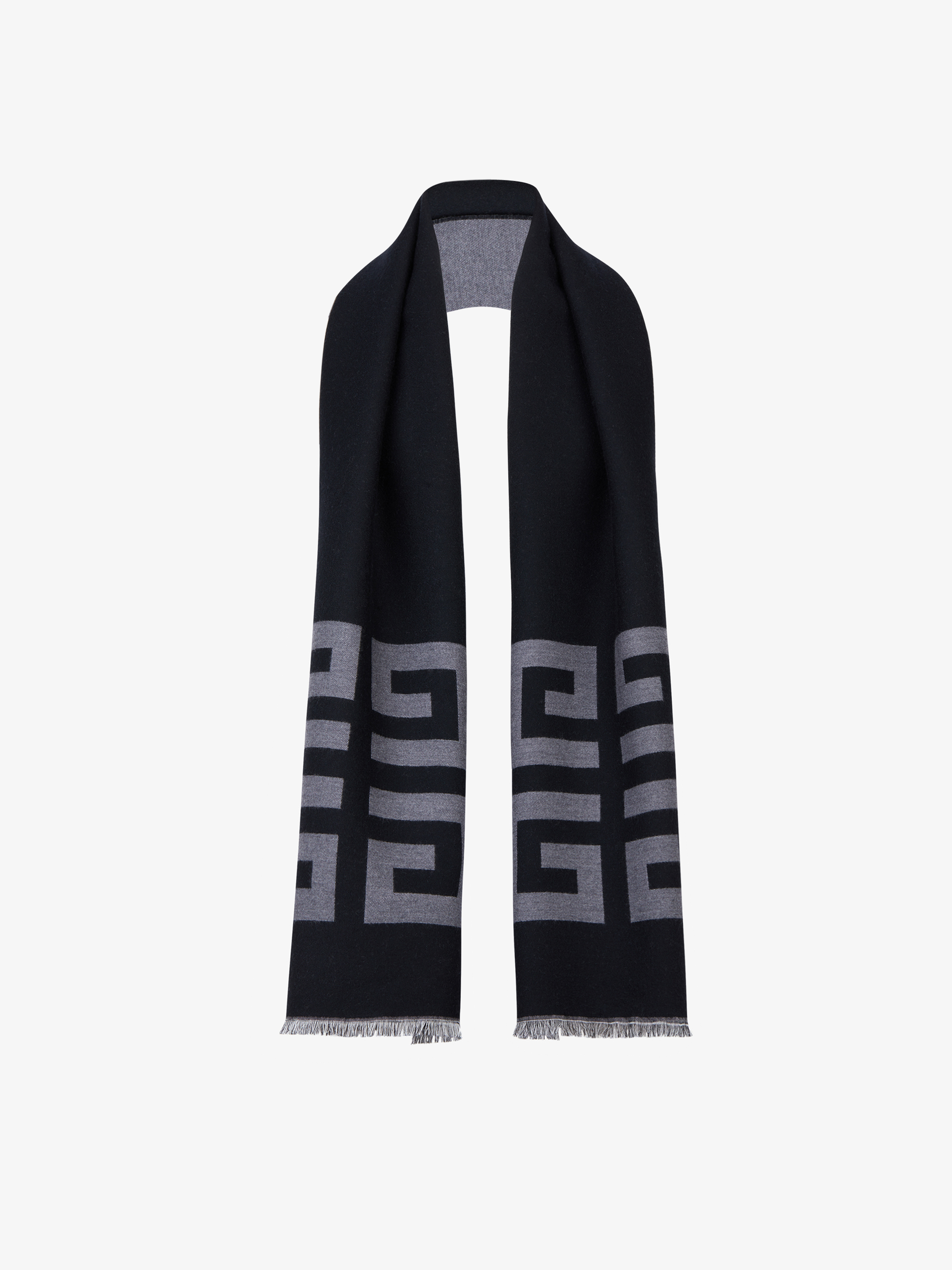 Double 4G woven scarf