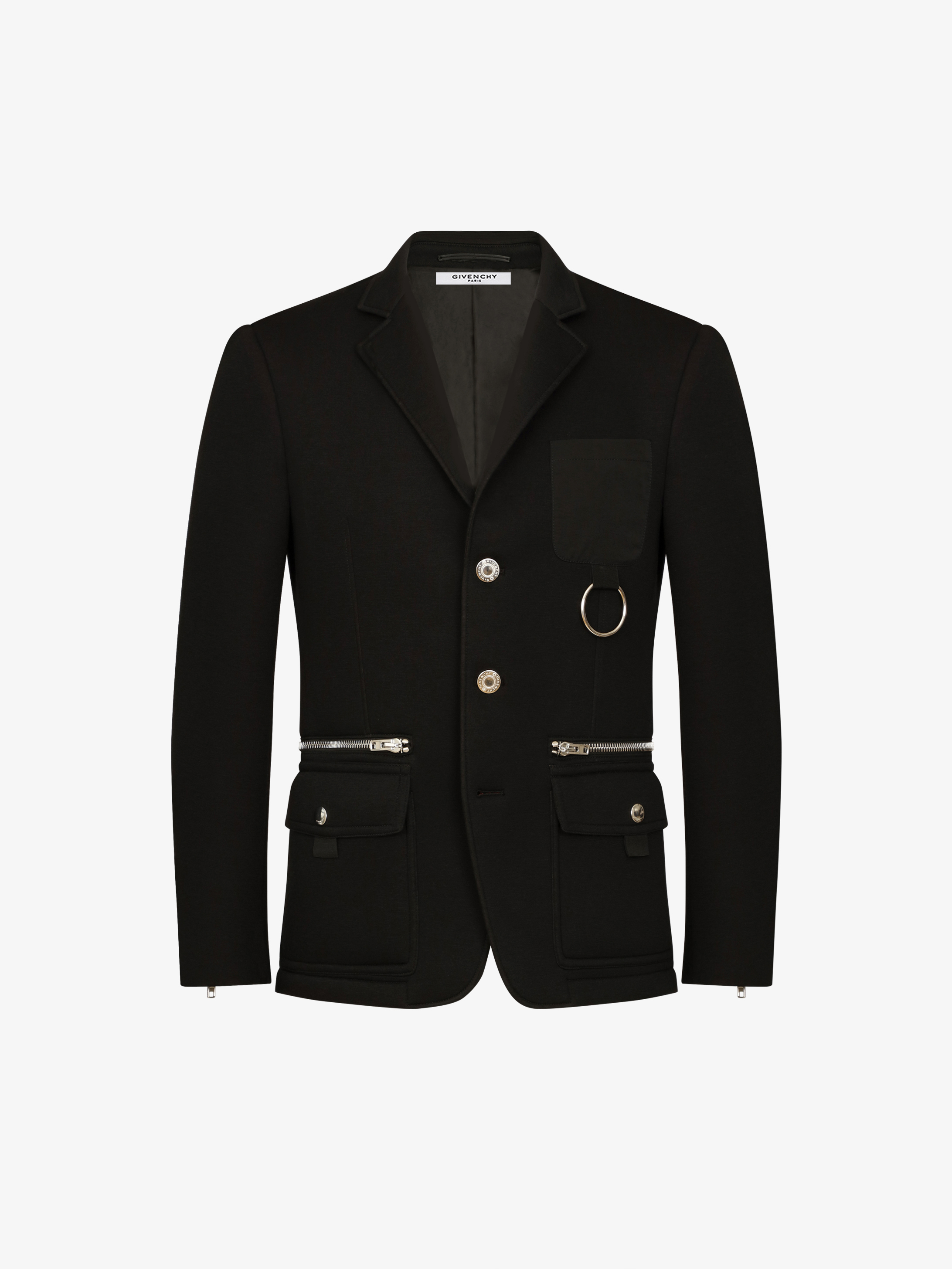 Multipockets jacket with metallic details