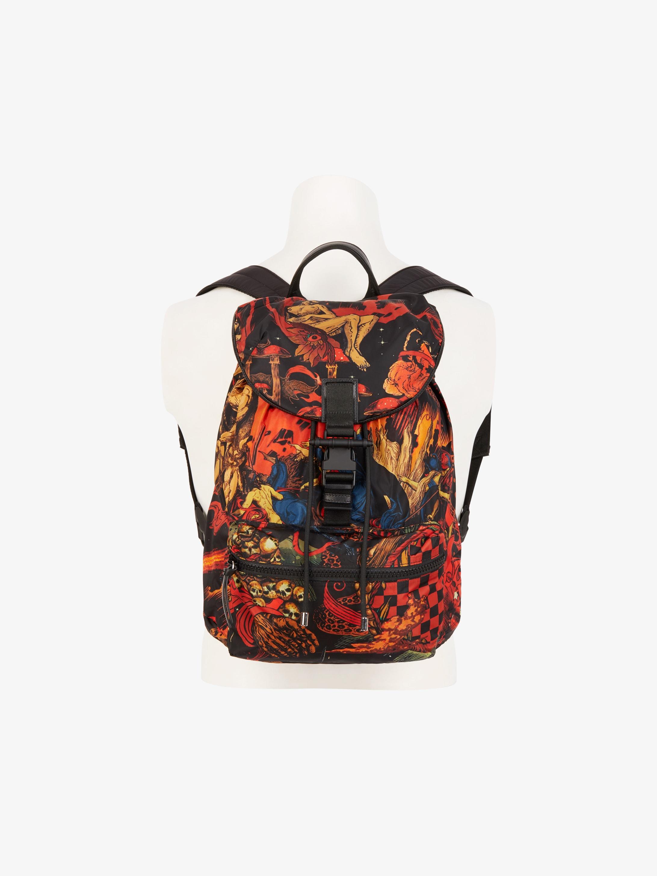 Pack-away Underworld printed backpack