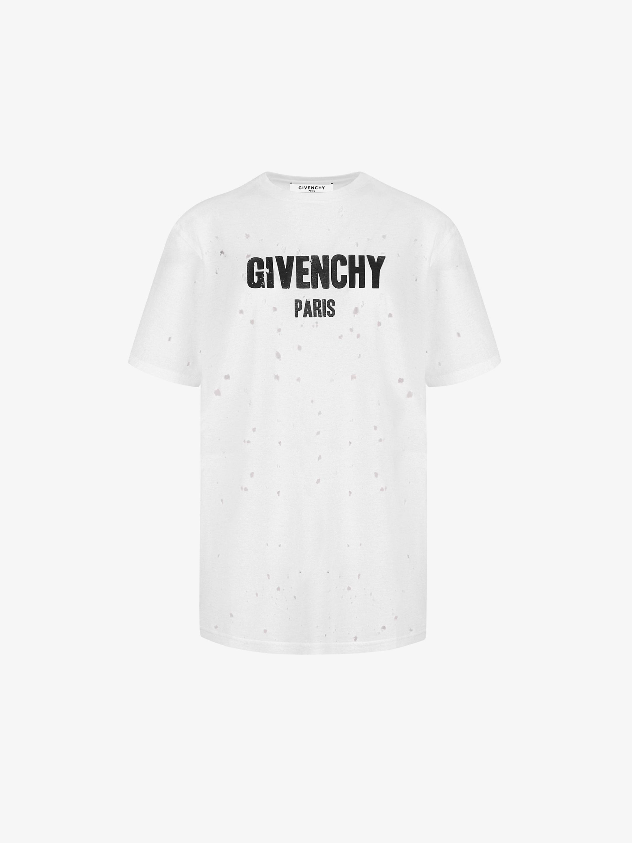 GIVENCHY PARIS destroyed t-shirt