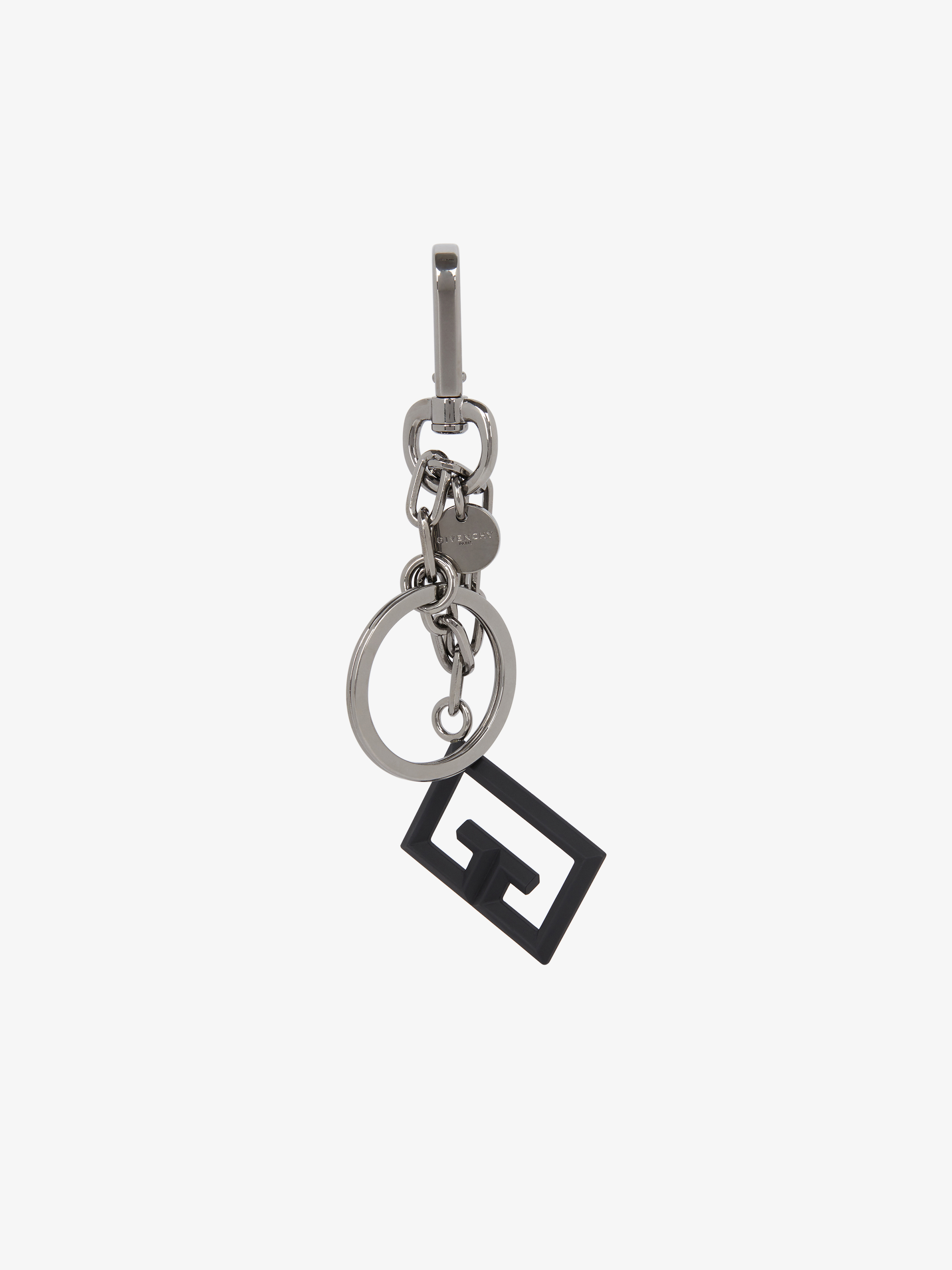 Double G keyring in metal