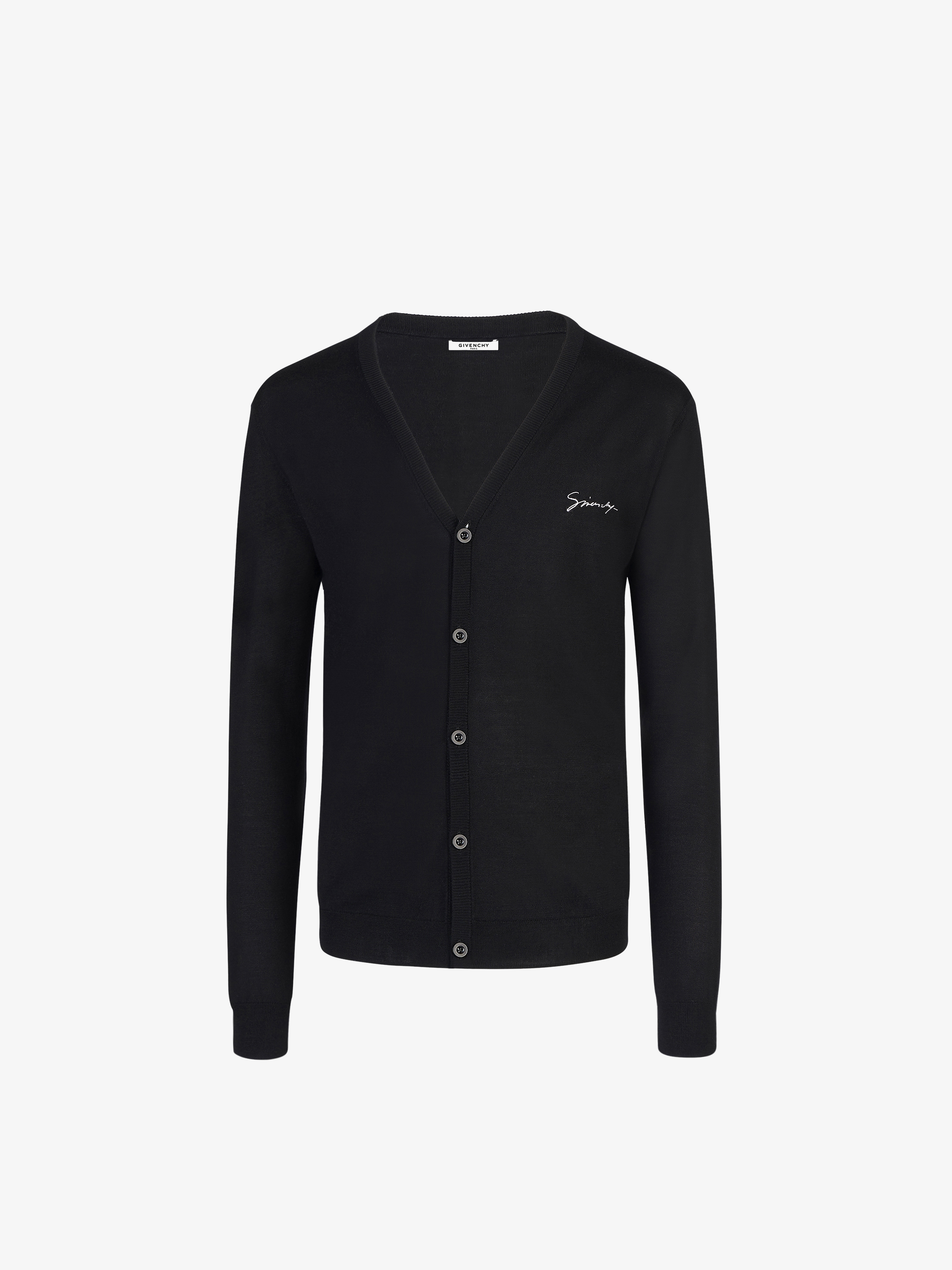 GIVENCHY embroidered cardigan in silk