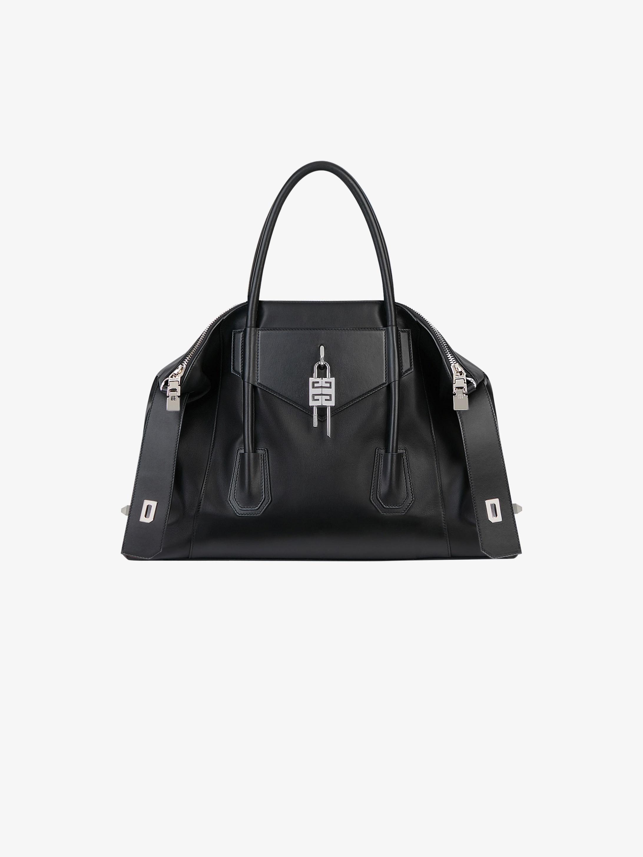 Medium Antigona Soft Lock bag in smooth leather