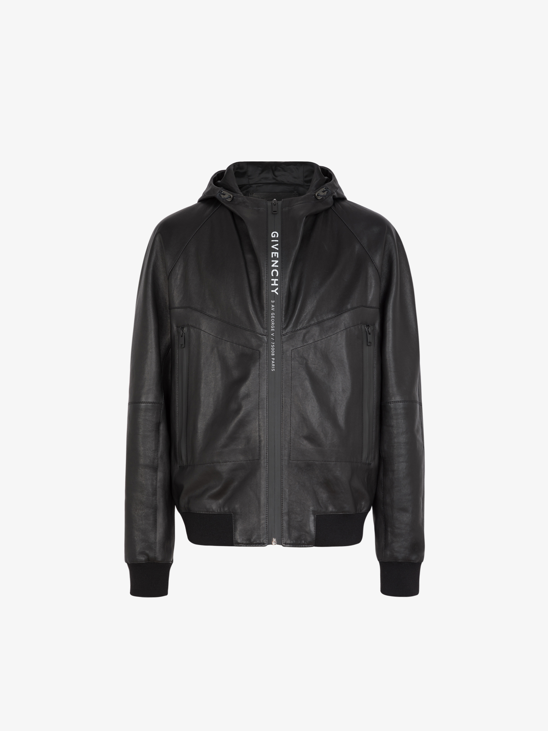 Windbreaker with GIVENCHY ADRESS leather band