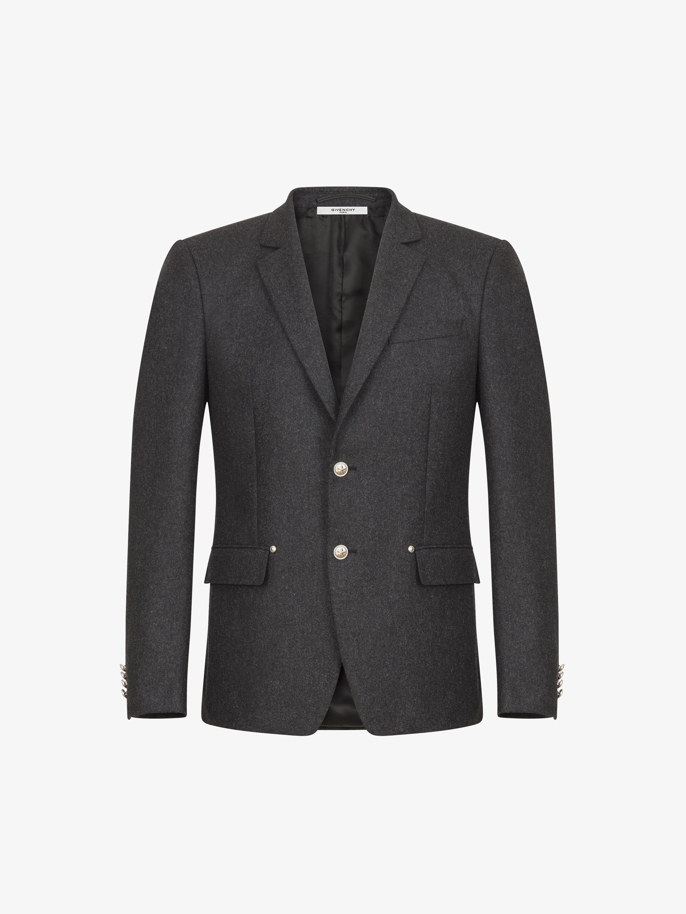 Star details slim fit jacket