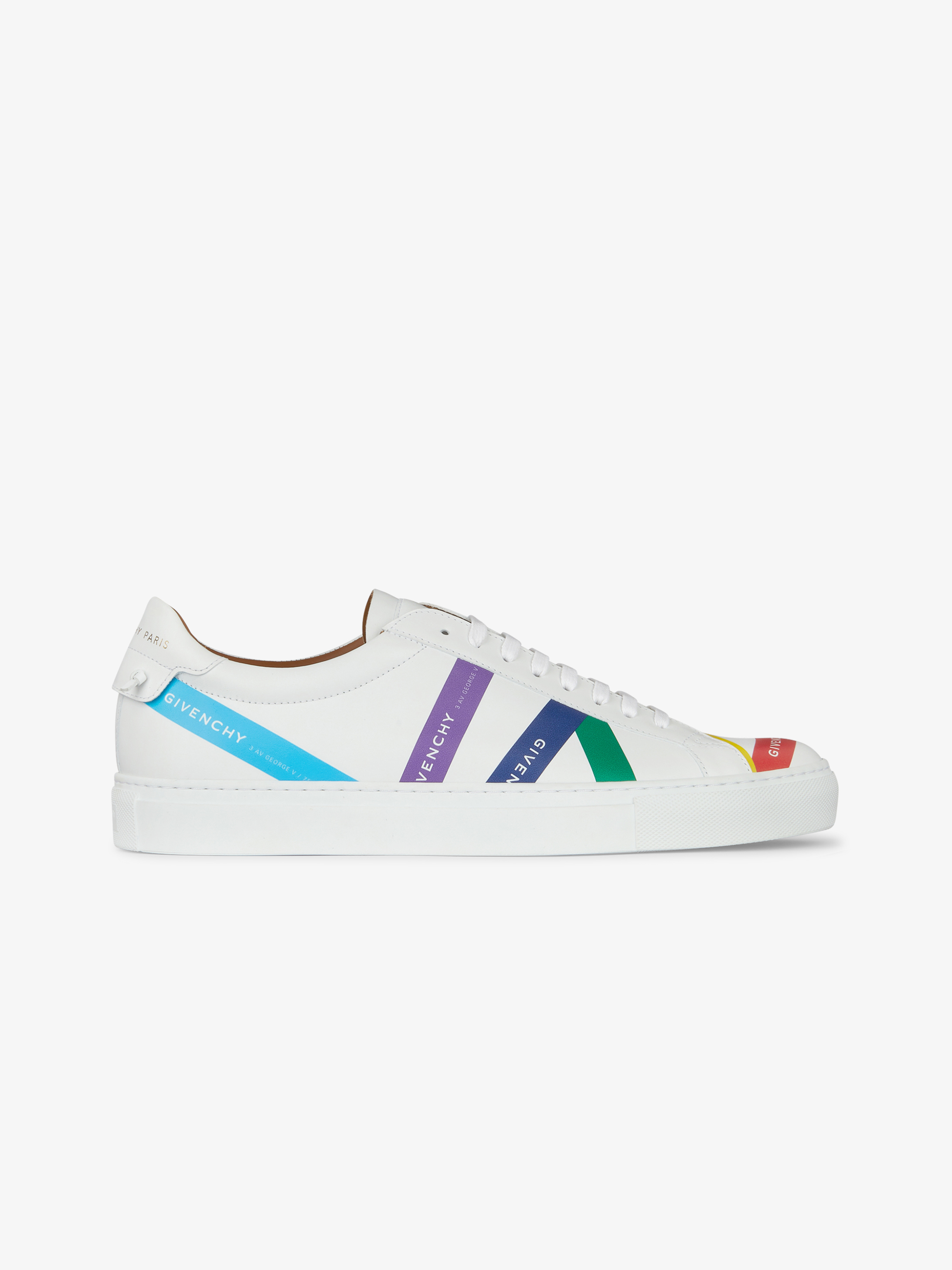 GIVENCHY multicolour webbing sneakers in leather