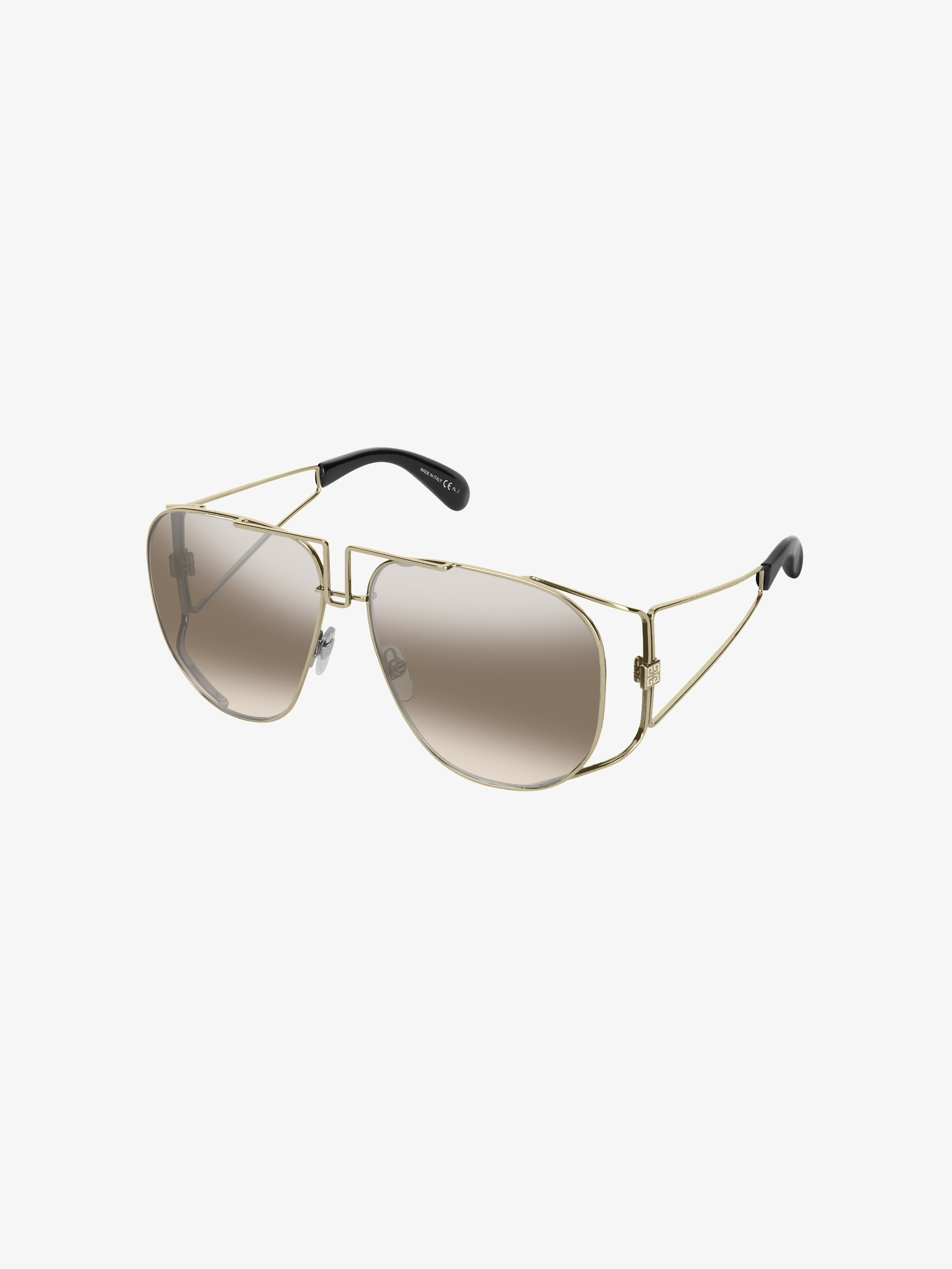 graphic sunglasses in acetate and metal