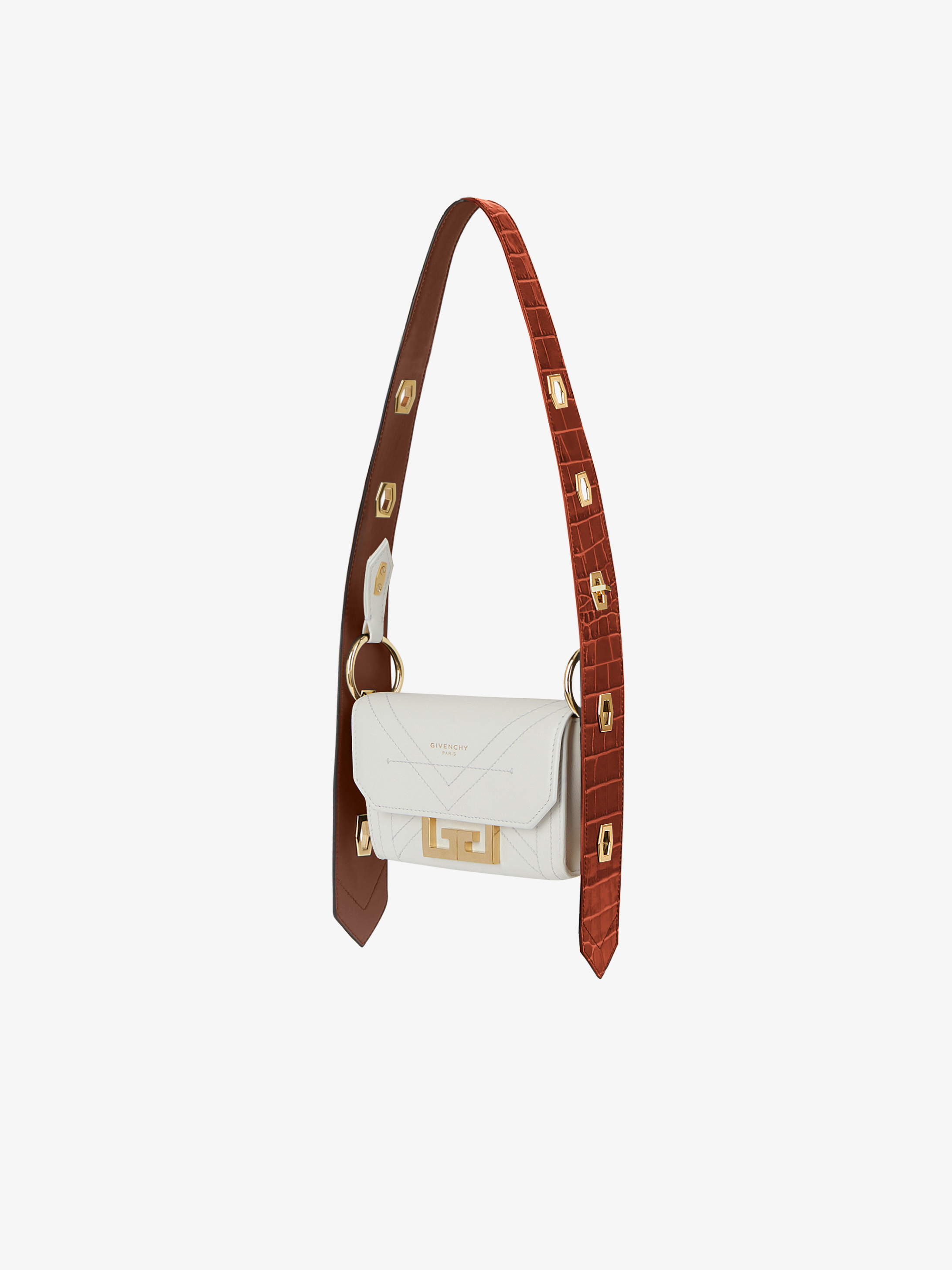 Nano two-tone Eden bag in leather