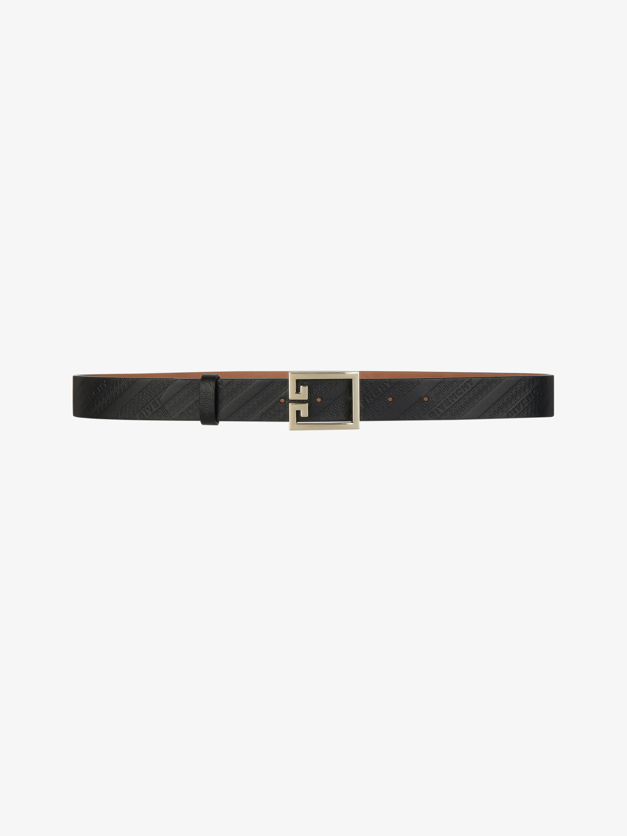 GIVENCHY CHAIN double G belt in leather