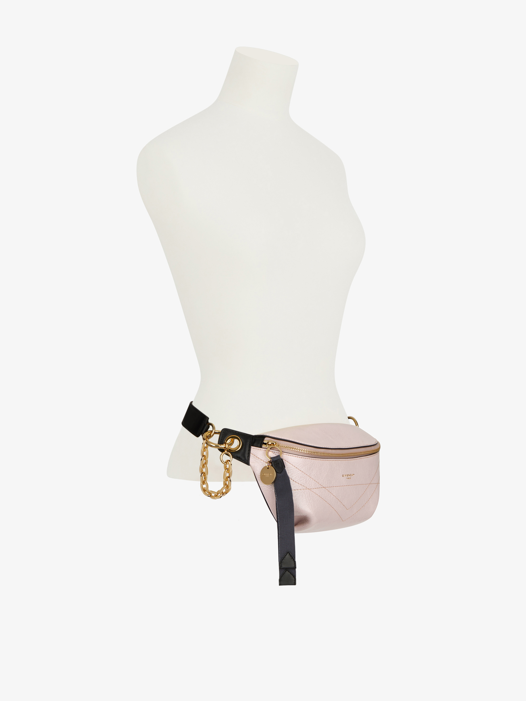ID bum bag in crackling leather