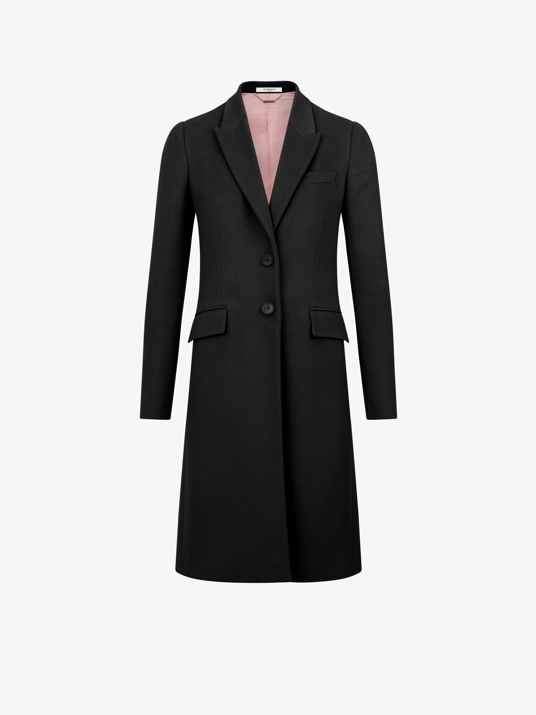 Fitted coat in wool and Cashmere