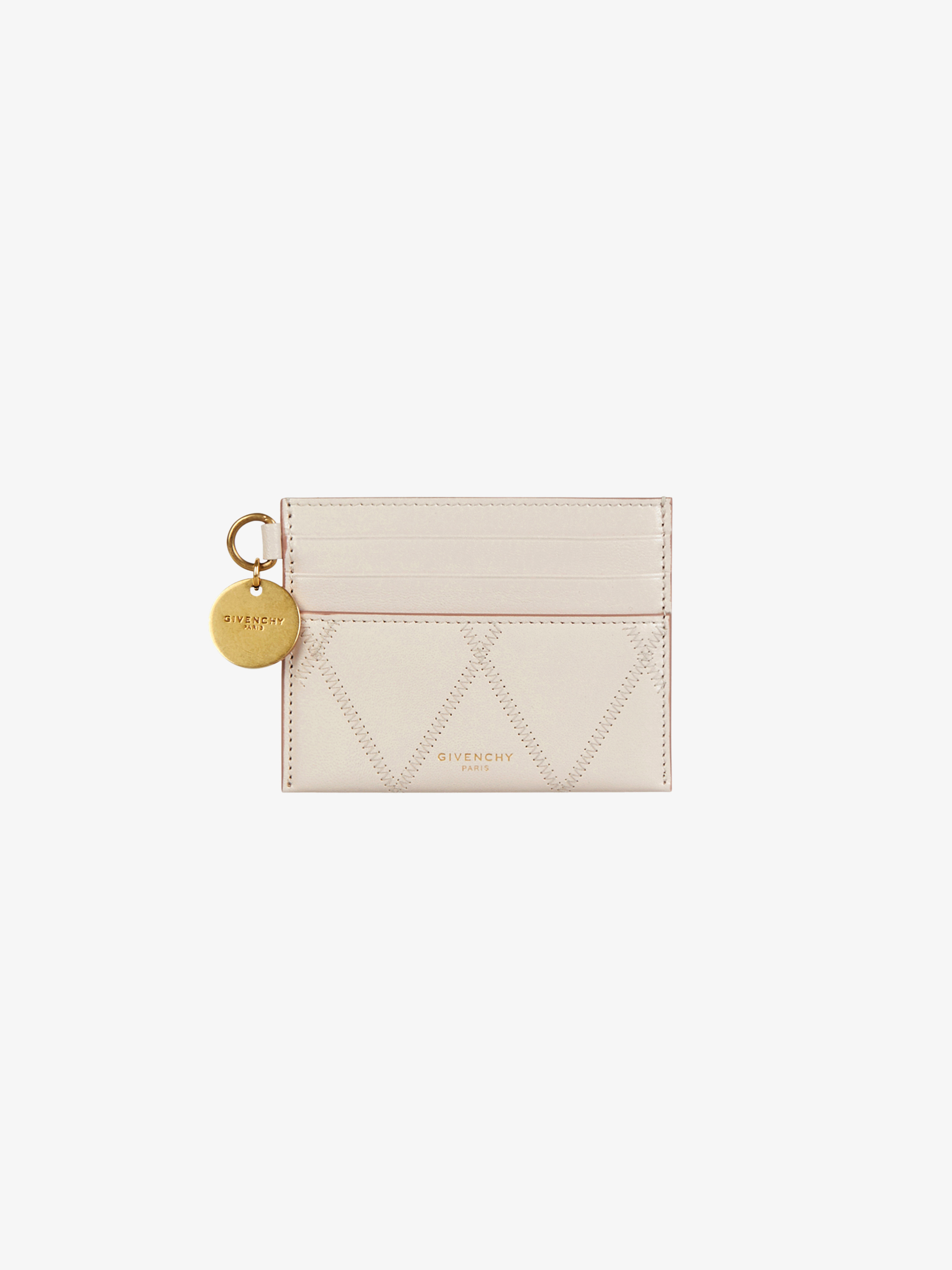 GV3 card holder in diamond quilted leather