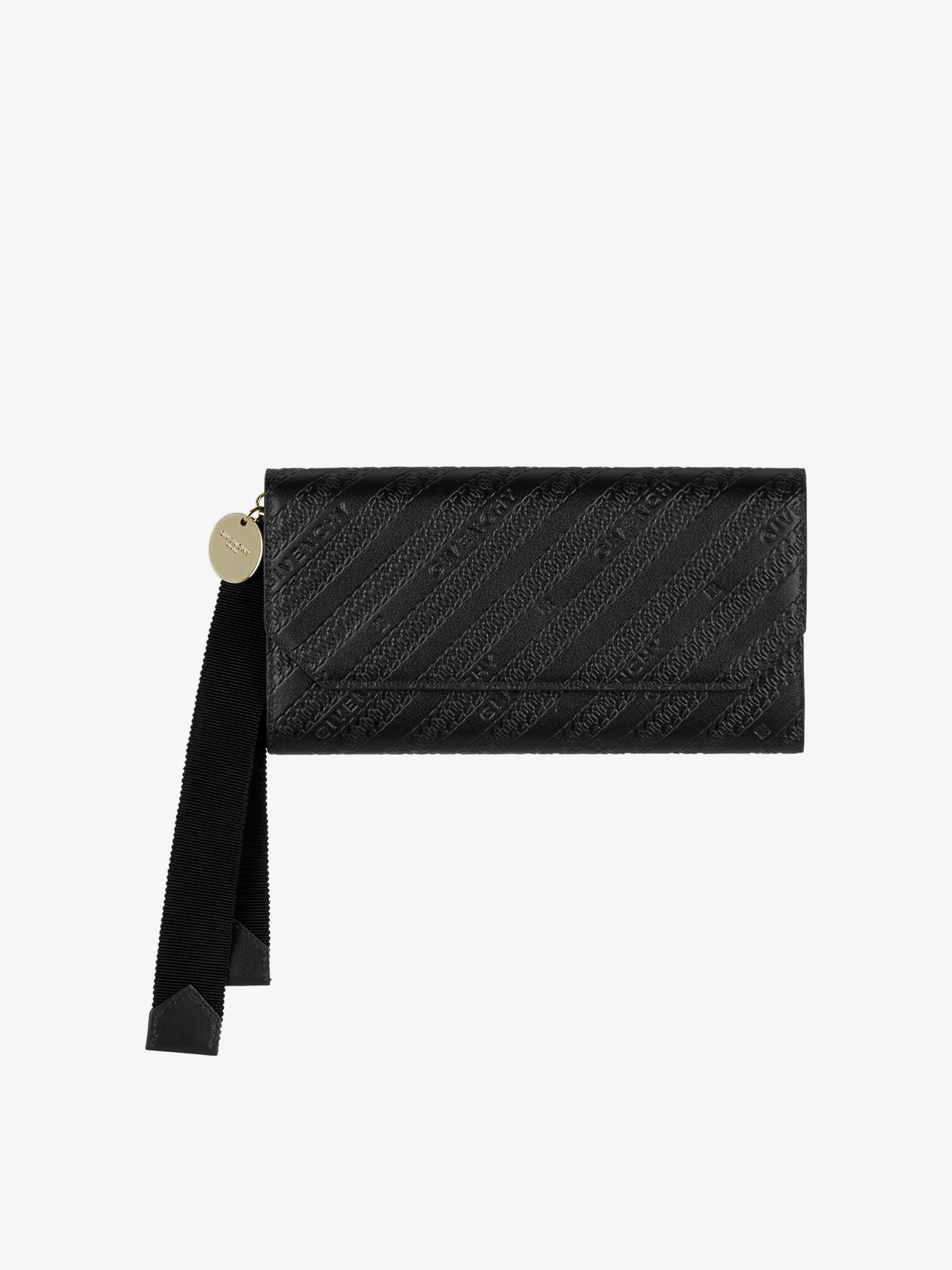 Long flap wallet in GIVENCHY chain leather