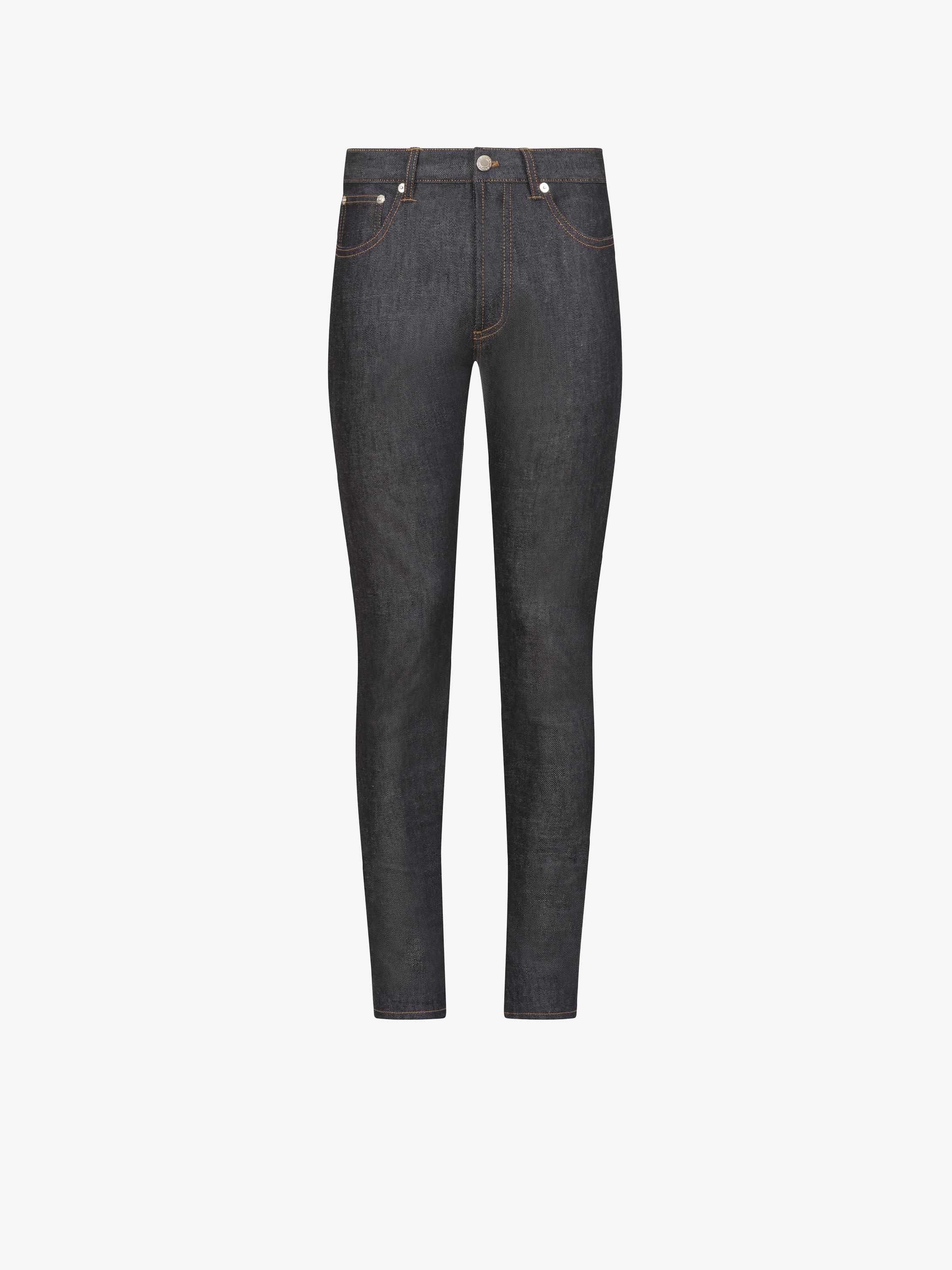 Jeans slim à étoiles sur poche dos