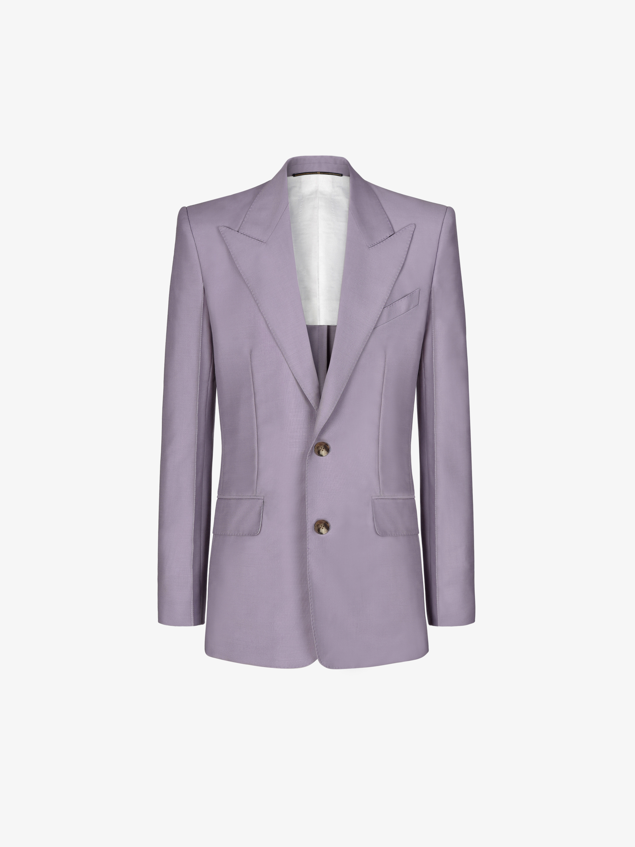Graphic stitchings jacket in mohair and wool