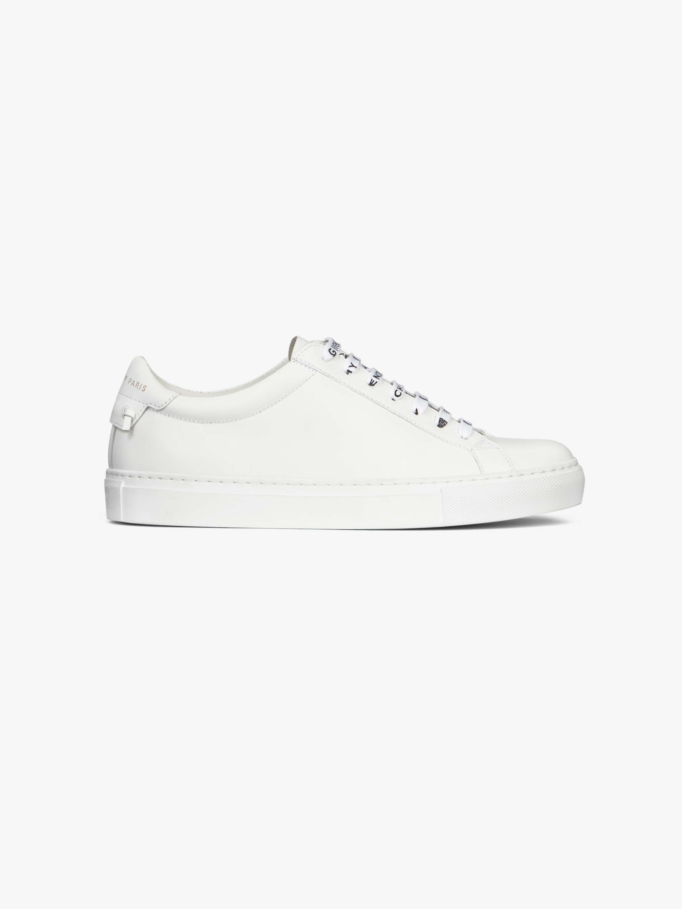 Sneakers in leather with GIVENCHY laces