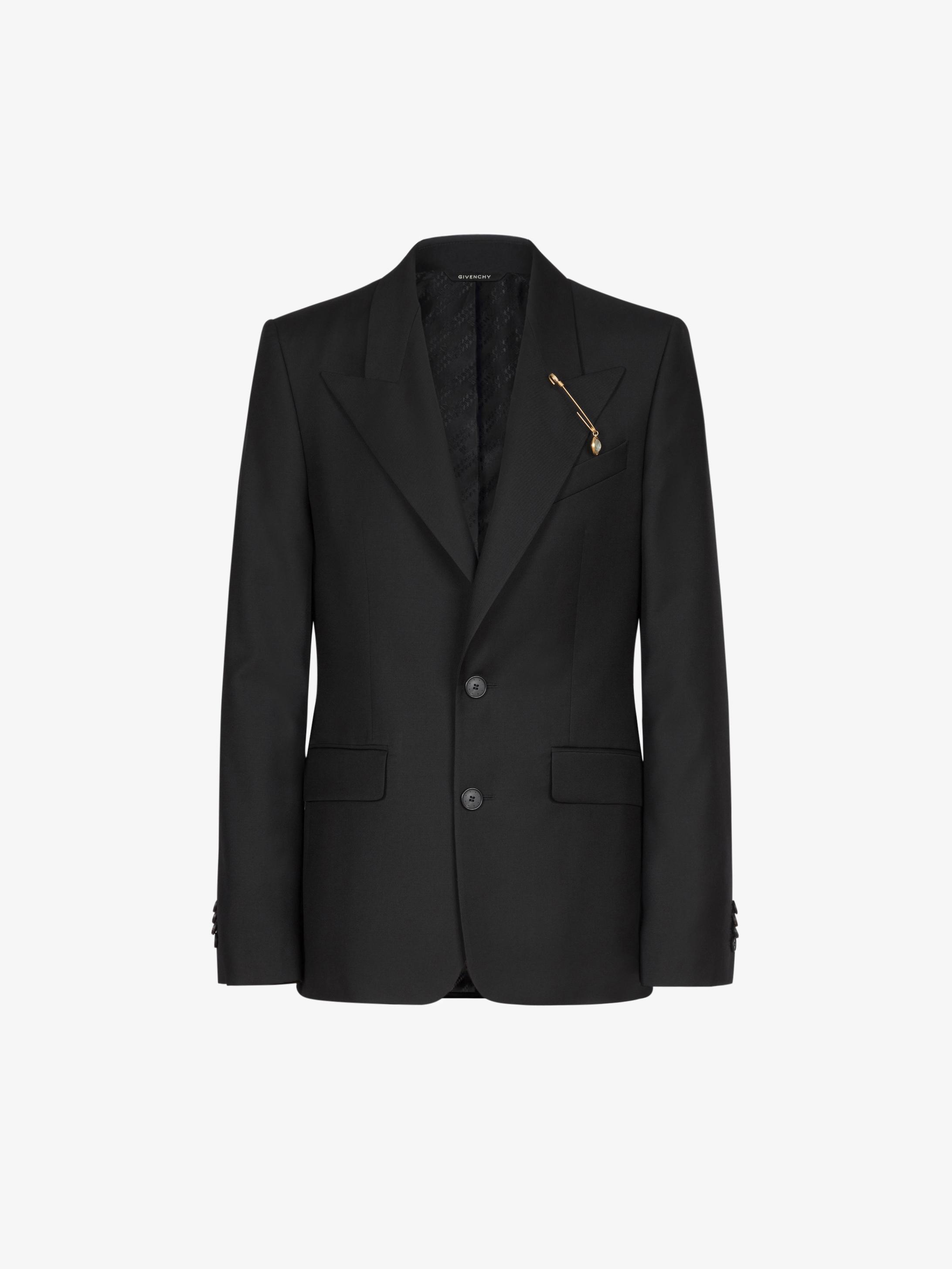G 핀 장식 울 재킷