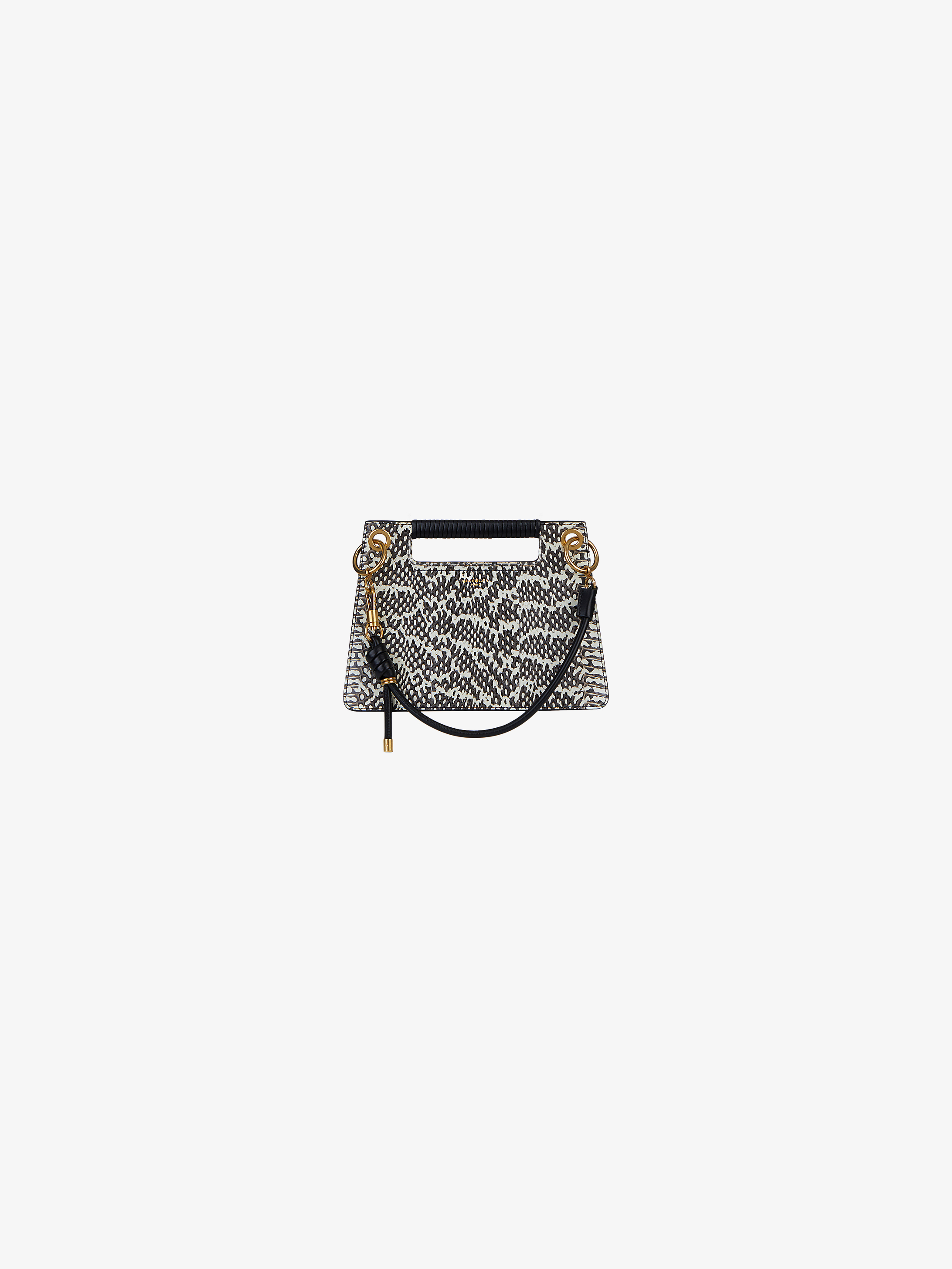 Small Whip bag in elaphe skin and leather