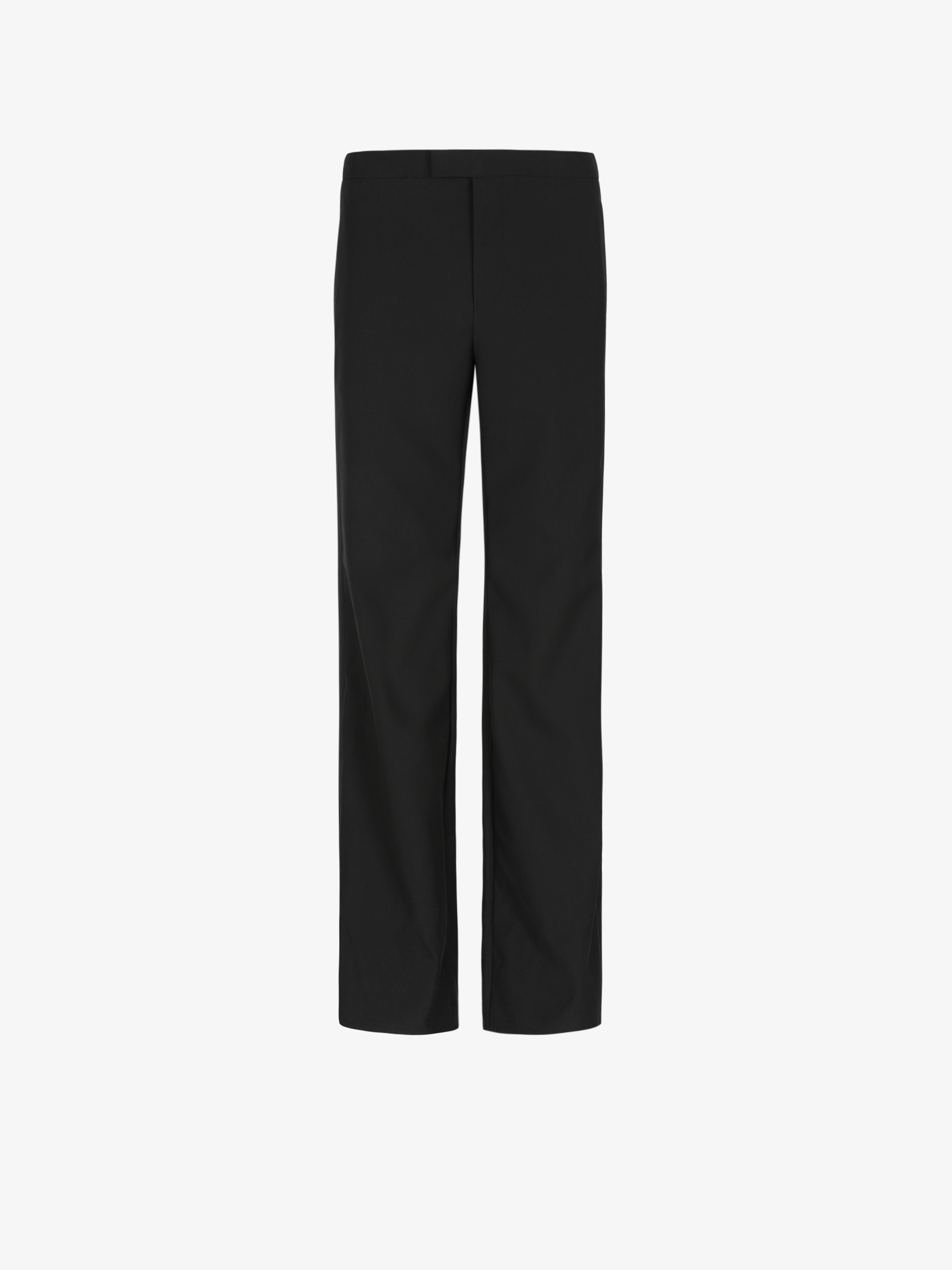 Flared tuxedo trousers with satin band