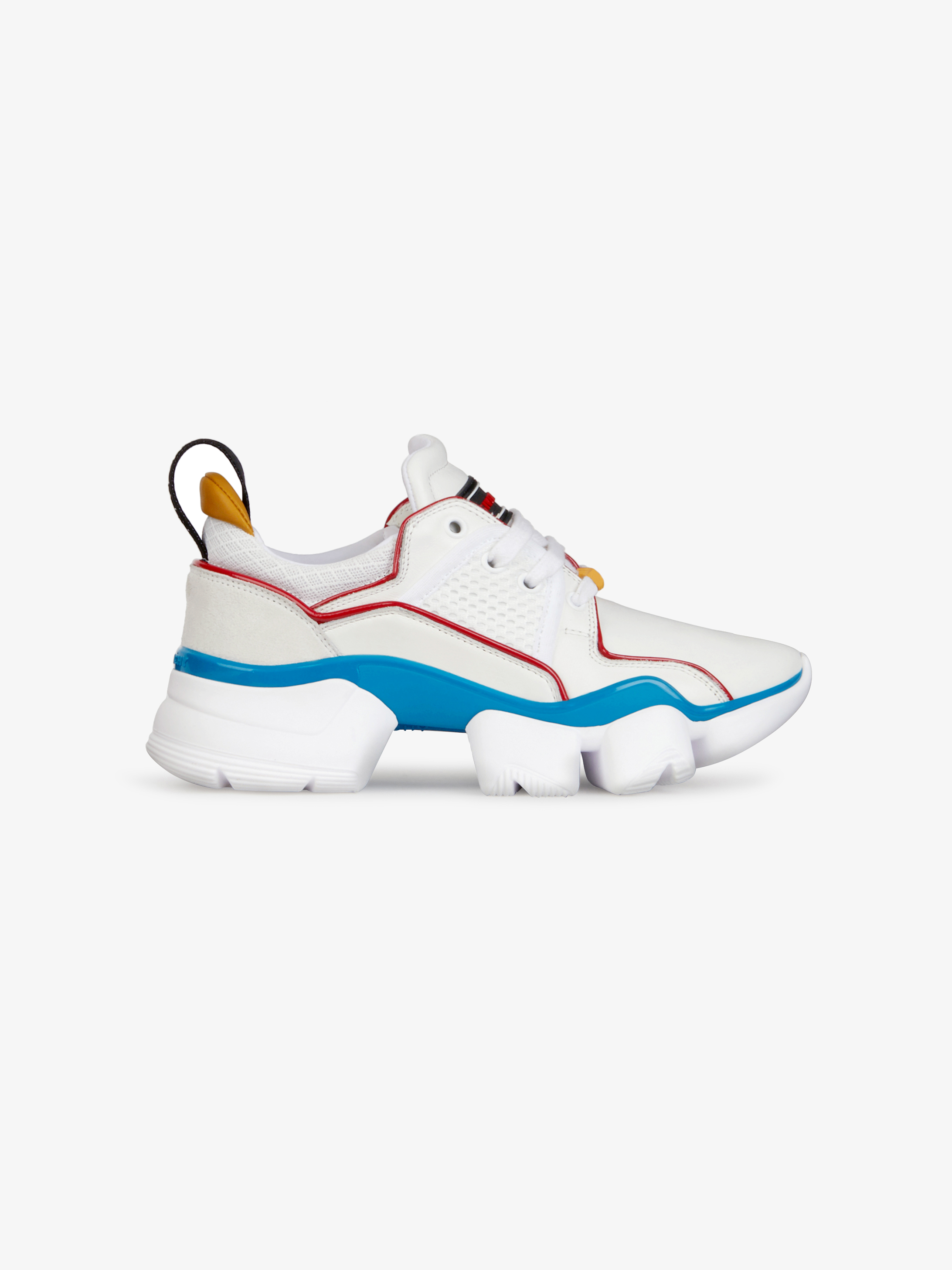Multicolored low JAW sneakers in neoprene and leather