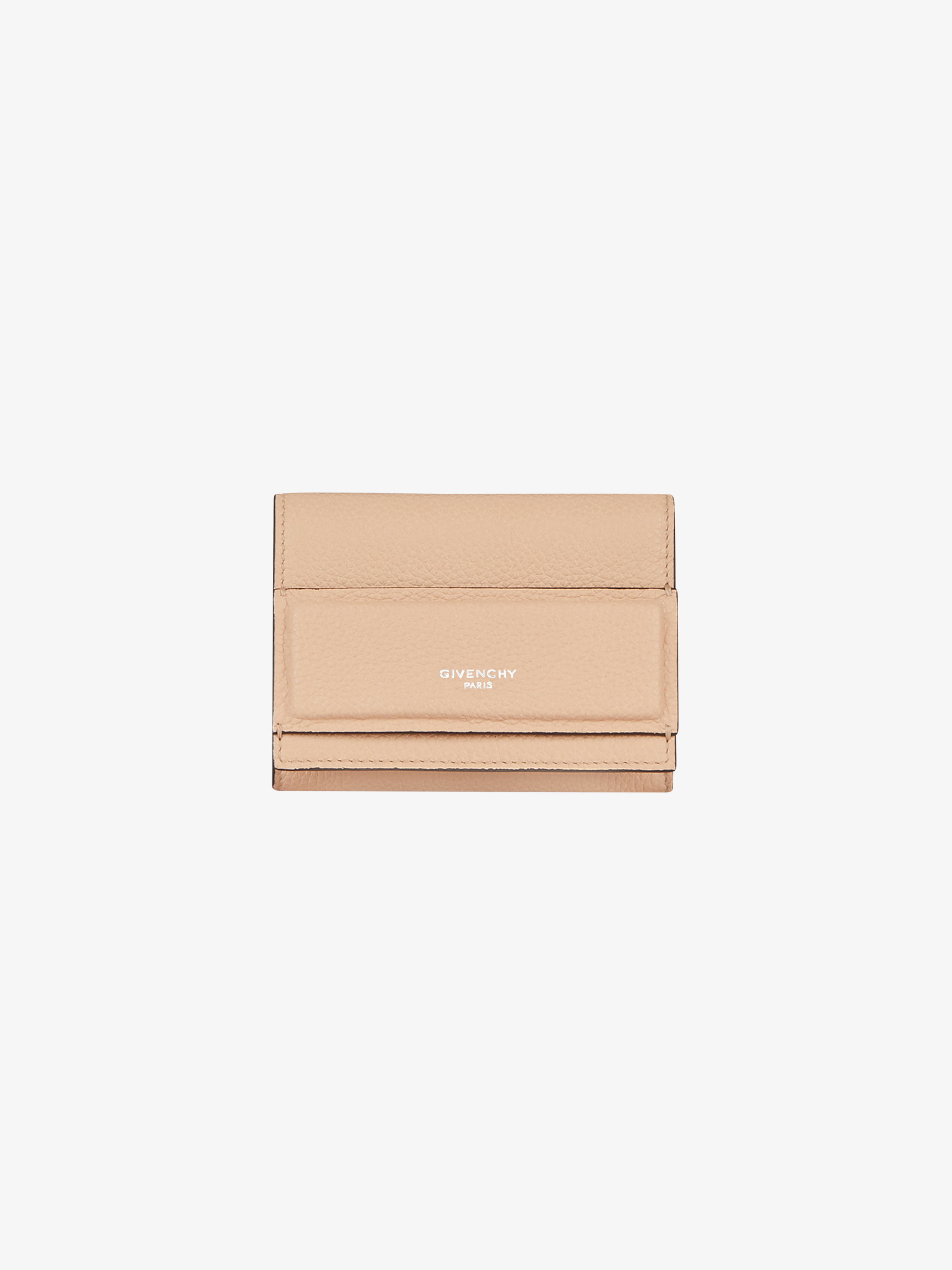 Horizon trifold wallet in grained leather