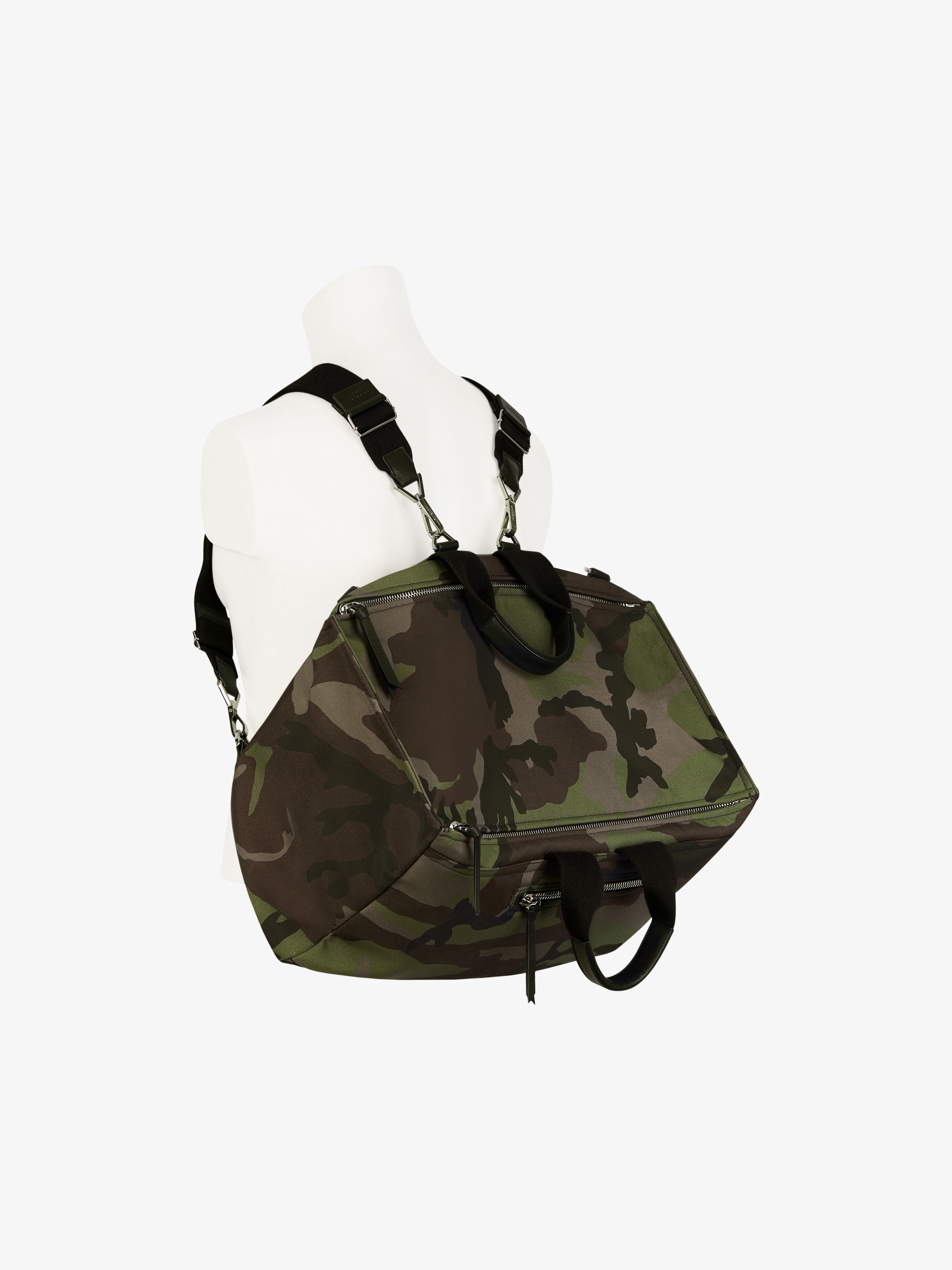 Camo printed multifunction Pandora backpack