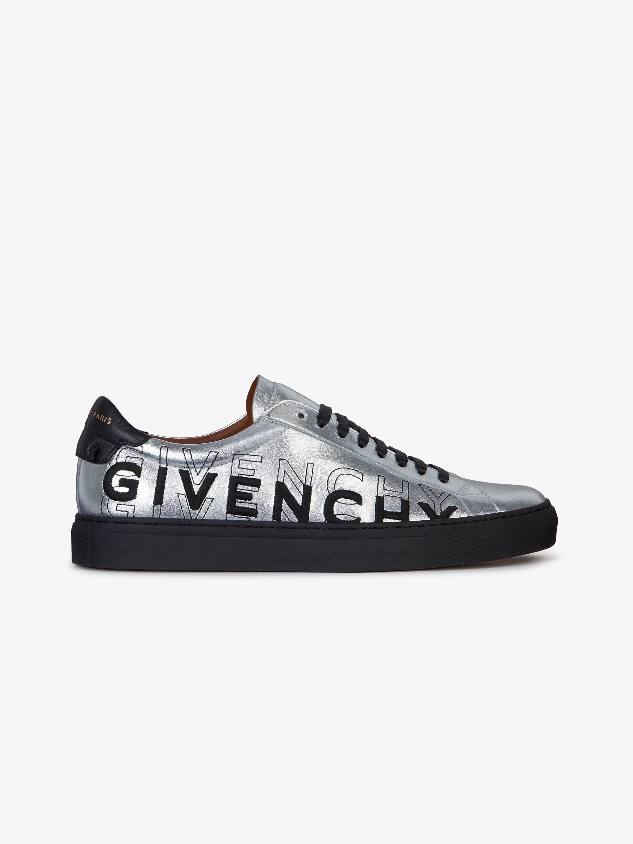 Sneakers en cuir métallisé GIVENCHY dégradé