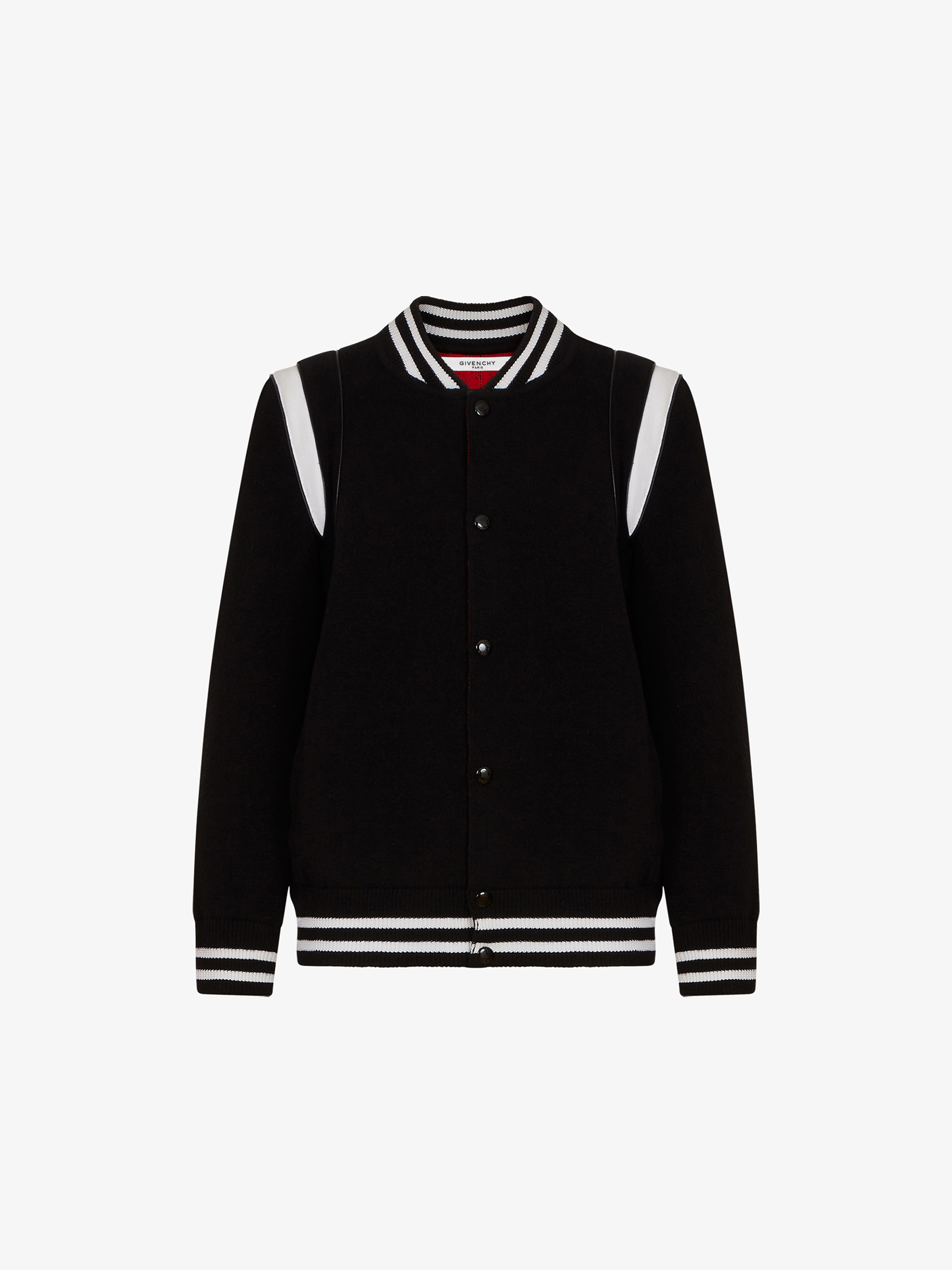 GIVENCHY PARIS knitted bomber jacket