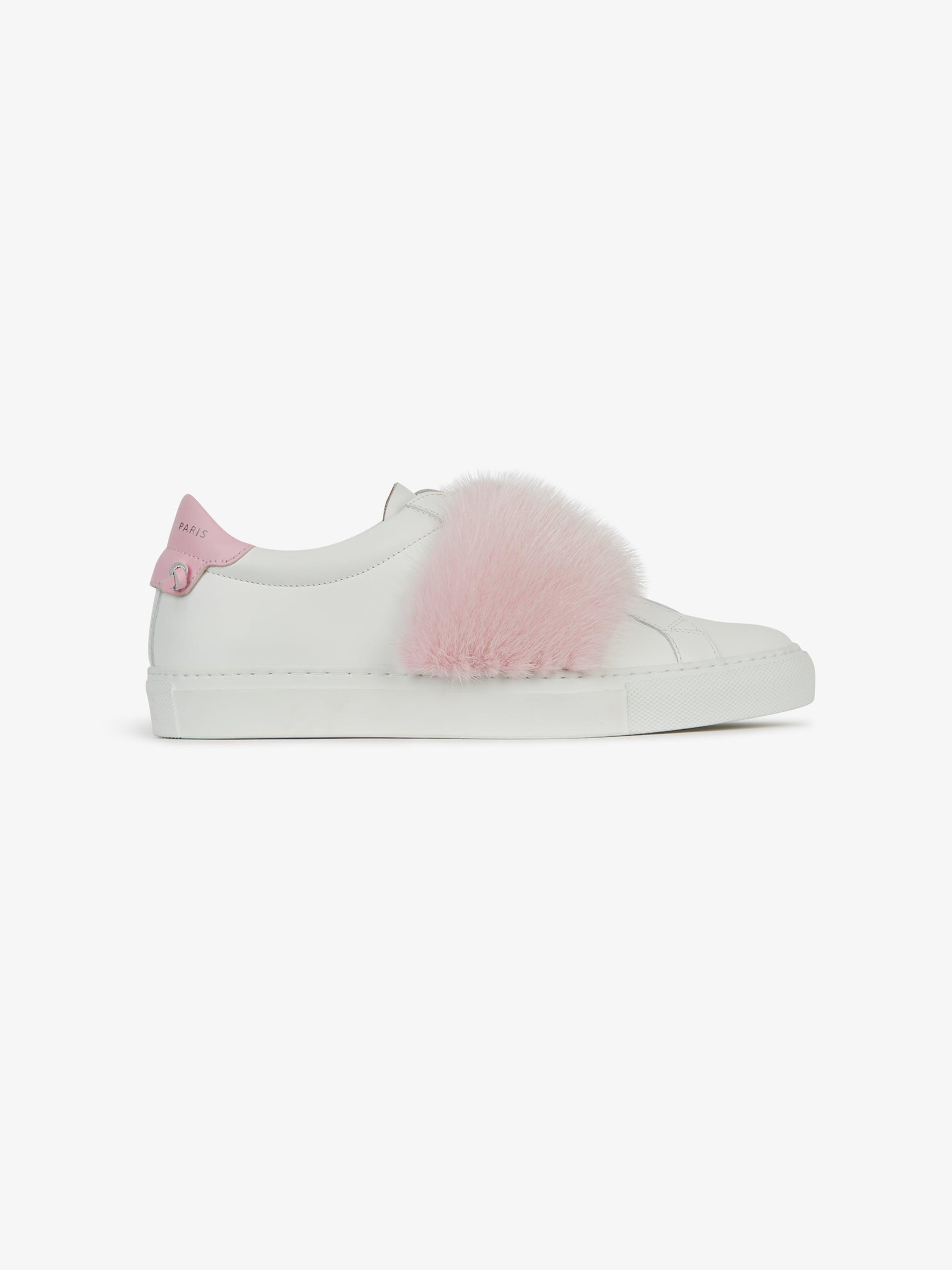Mink strap sneakers