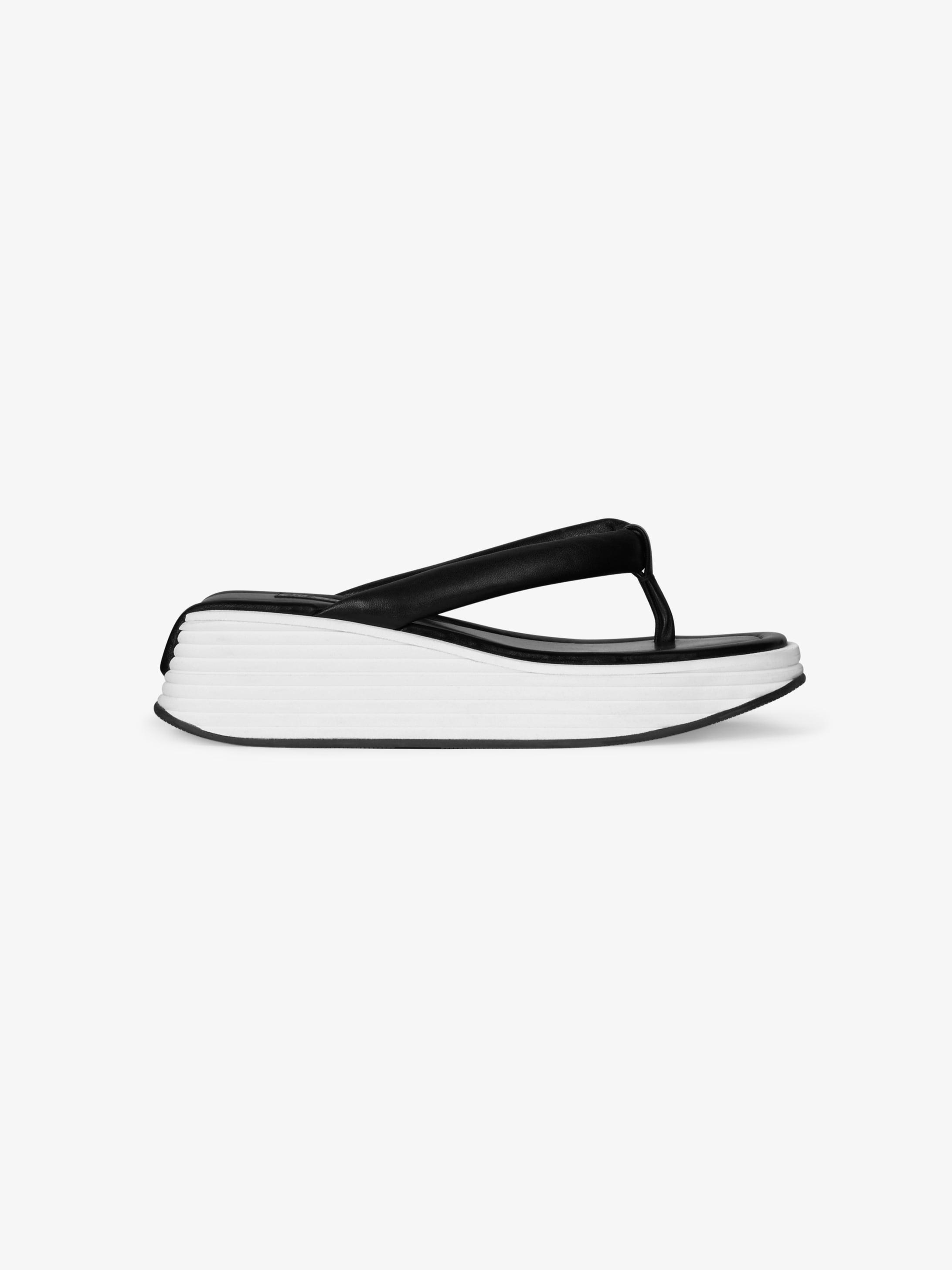 Kyoto platform sandals in leather