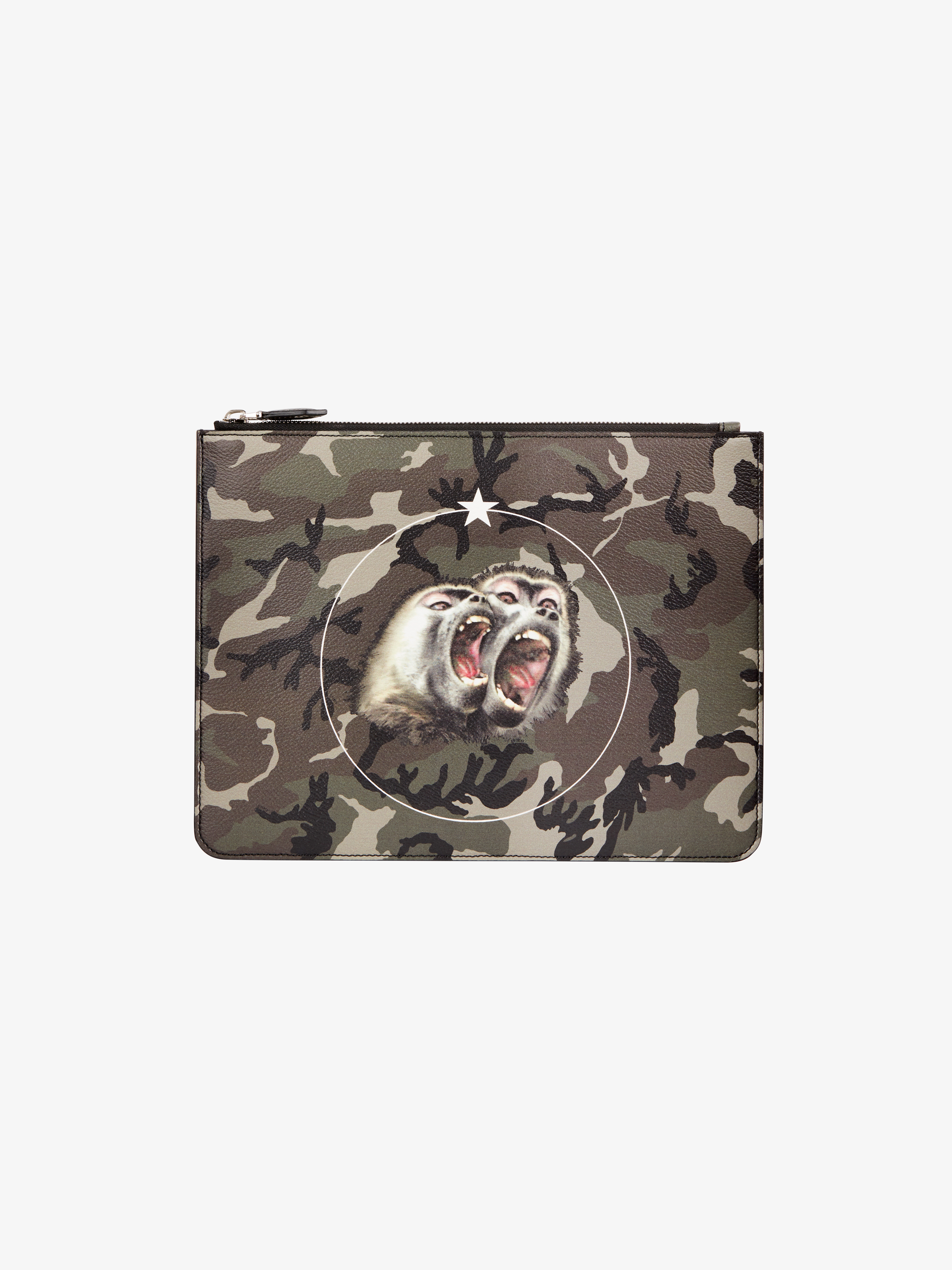 Monkey Brothers printed large pouch