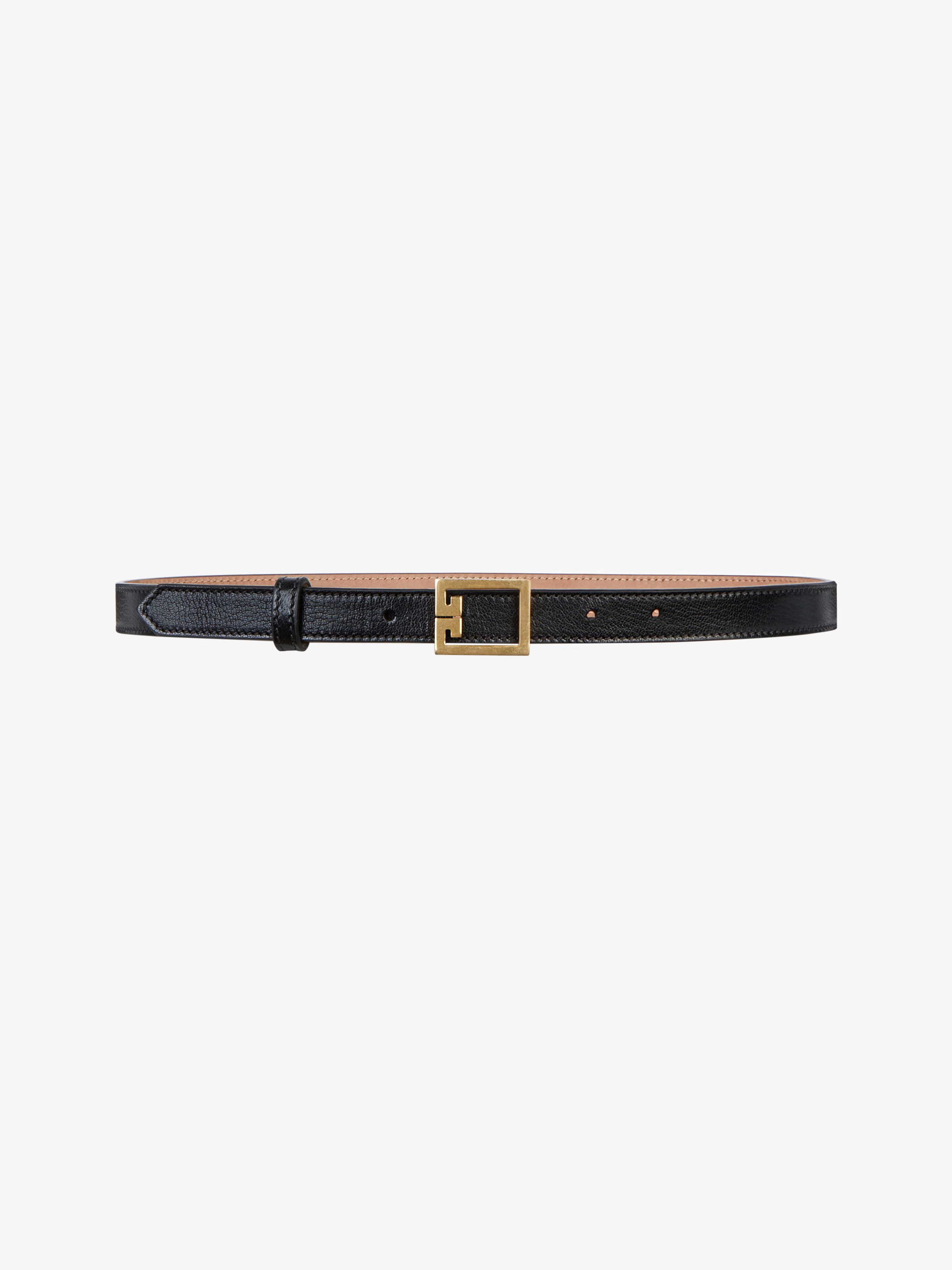Double G thin belt in leather
