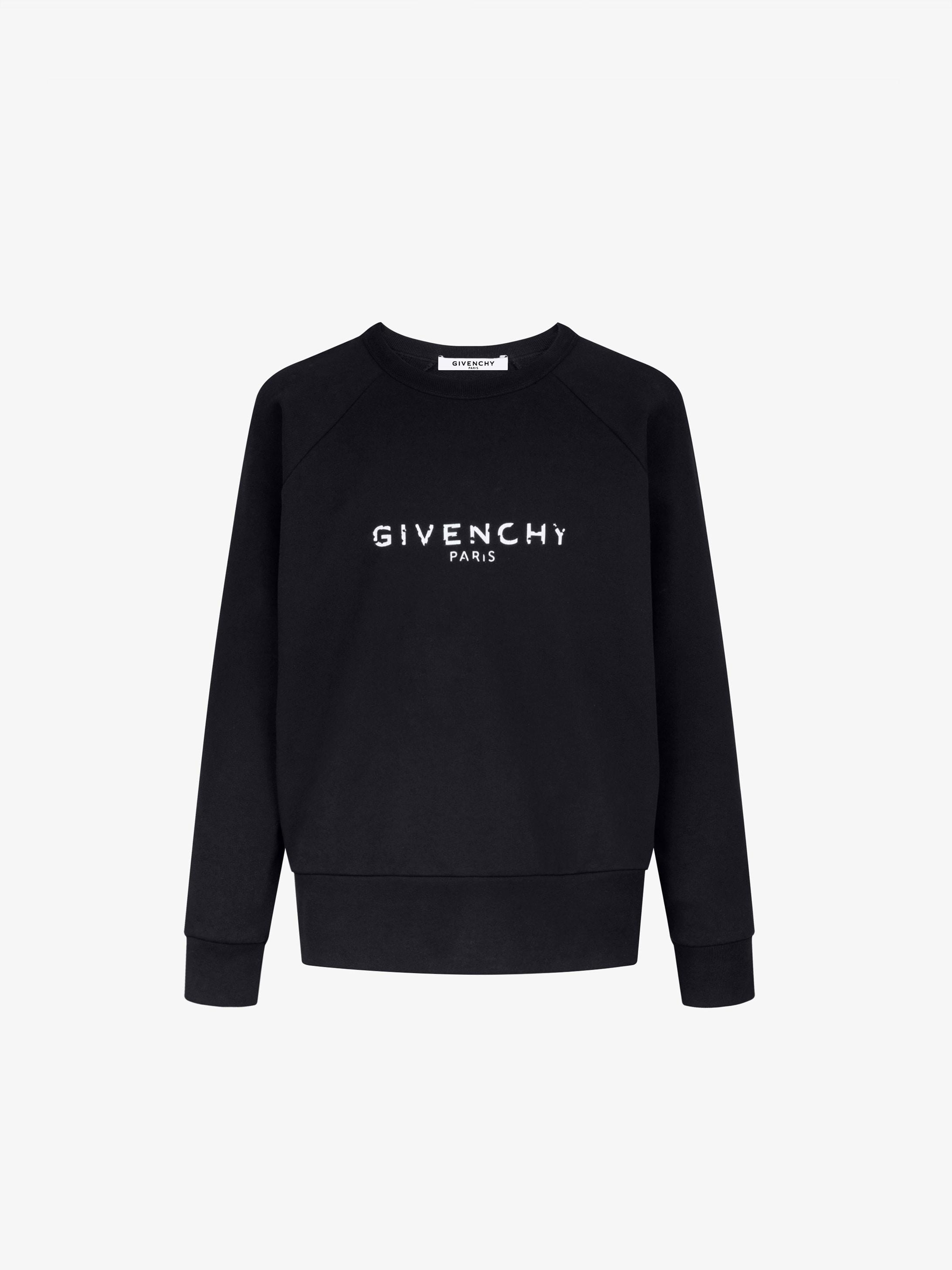 Blurred GIVENCHY PARIS sweatshirt
