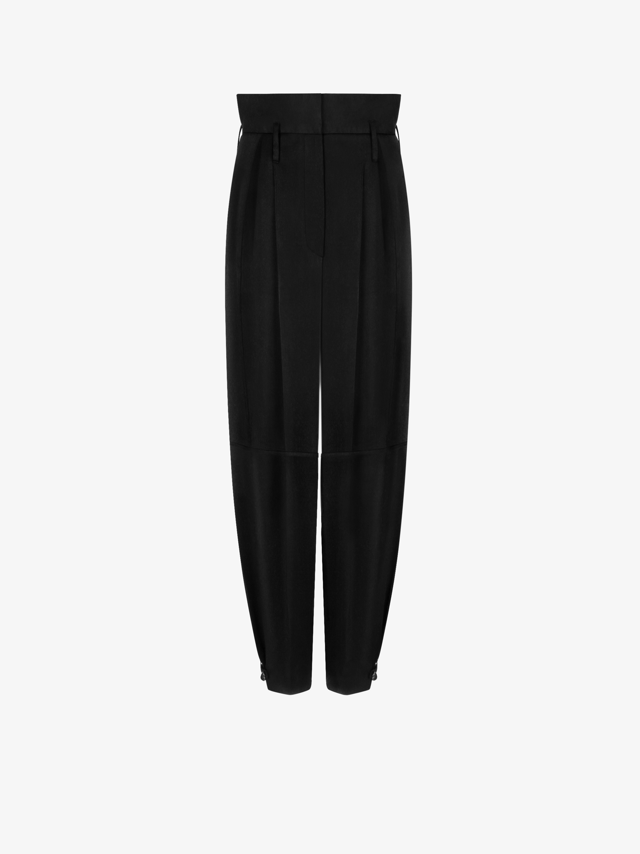 High waisted military trousers